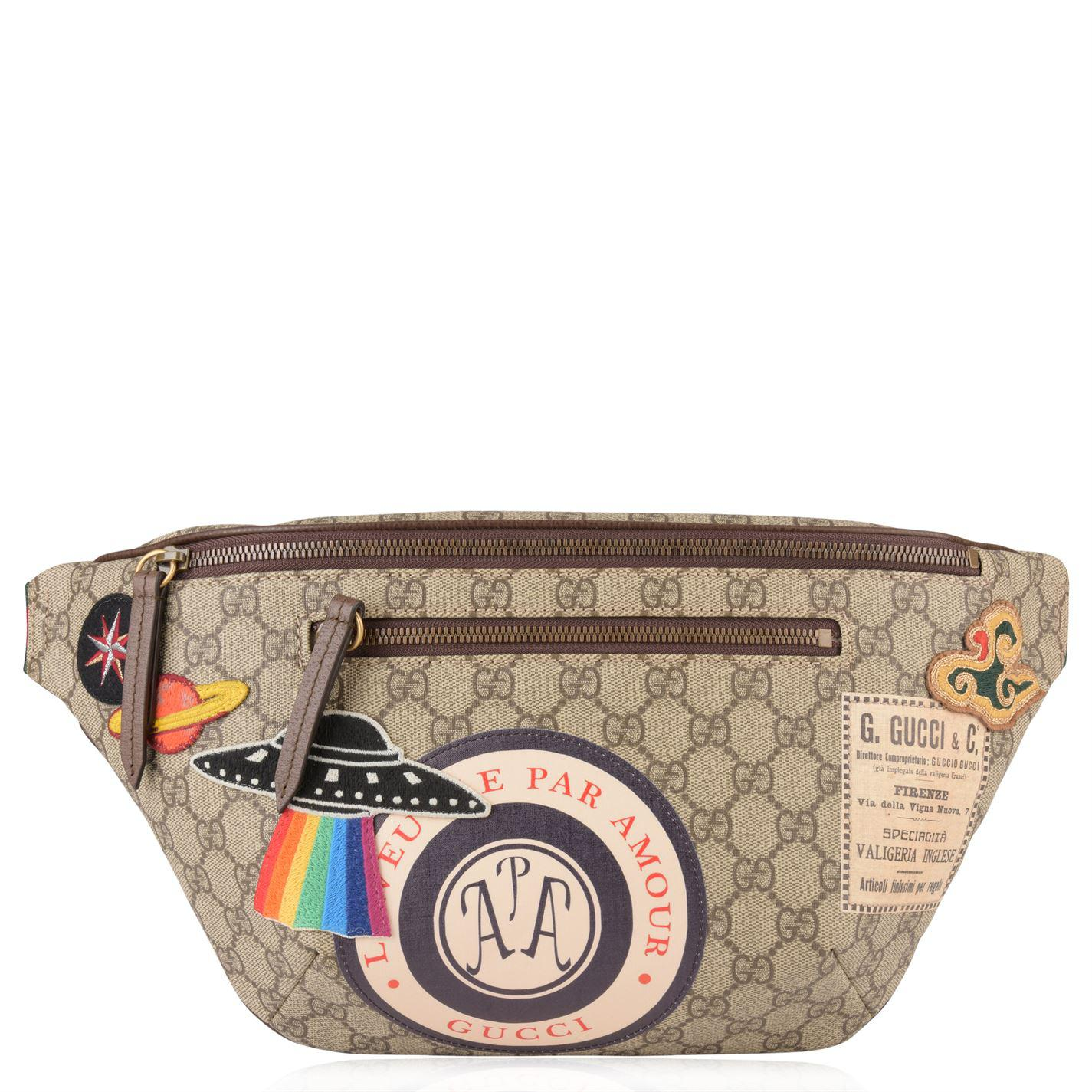 4abadf26e78 Gucci Gg Supreme Patch Belt Bag in Natural - Lyst