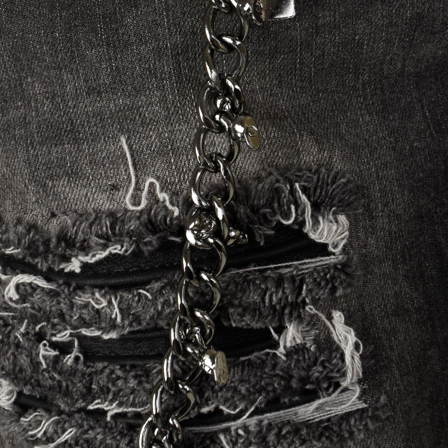 Philipp Plein Denim Slim Fit Chain Jeans in Grey (Grey) for Men