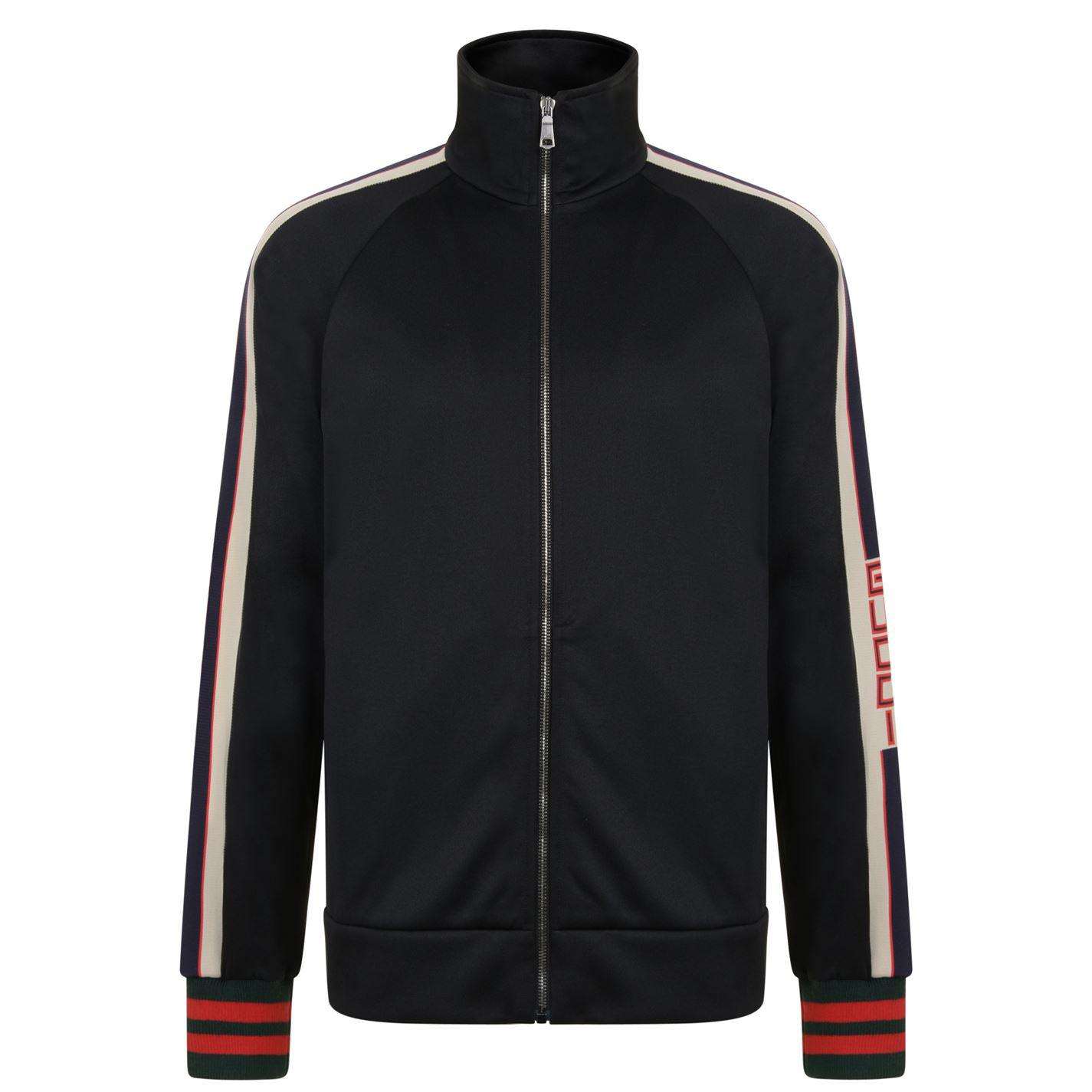 f6e14f70a Gucci Technical Jersey Jacket in Black for Men - Lyst