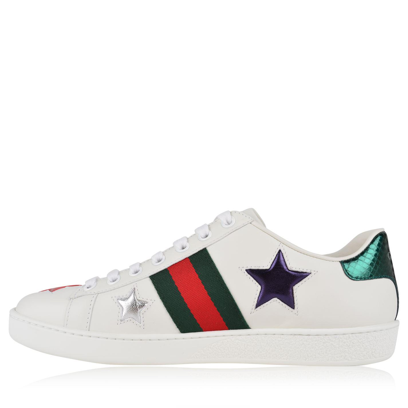 a6654411a30 Lyst - Gucci New Ace Star Patch Trainers in White - Save 8%