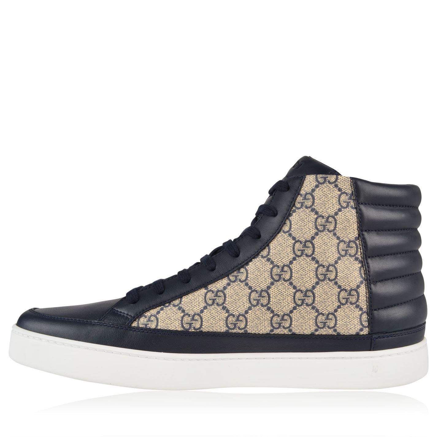 db48c5a4604 Gucci - Blue Common High Gg Trainers for Men - Lyst. View fullscreen