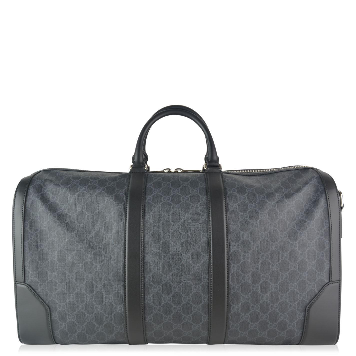 b96c38222c2c Gucci - Black Soft Gg Supreme Carry On Duffle Bag - Lyst. View fullscreen