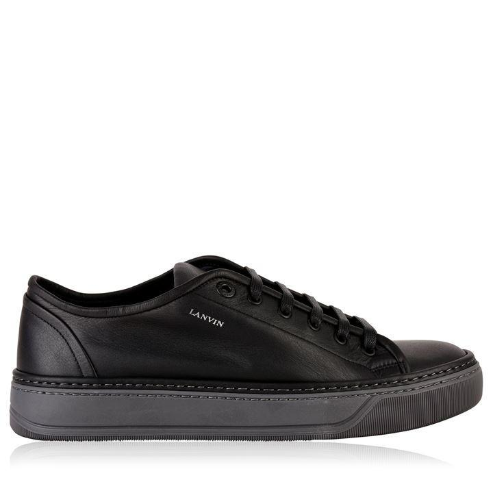 Lanvin Leather Unlined Low Trainers in