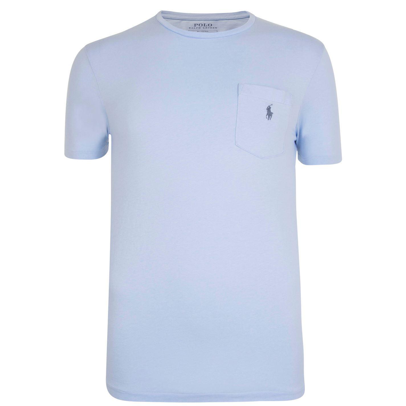 Lyst Polo Ralph Lauren Logo Pocket T Shirt In Blue For Men