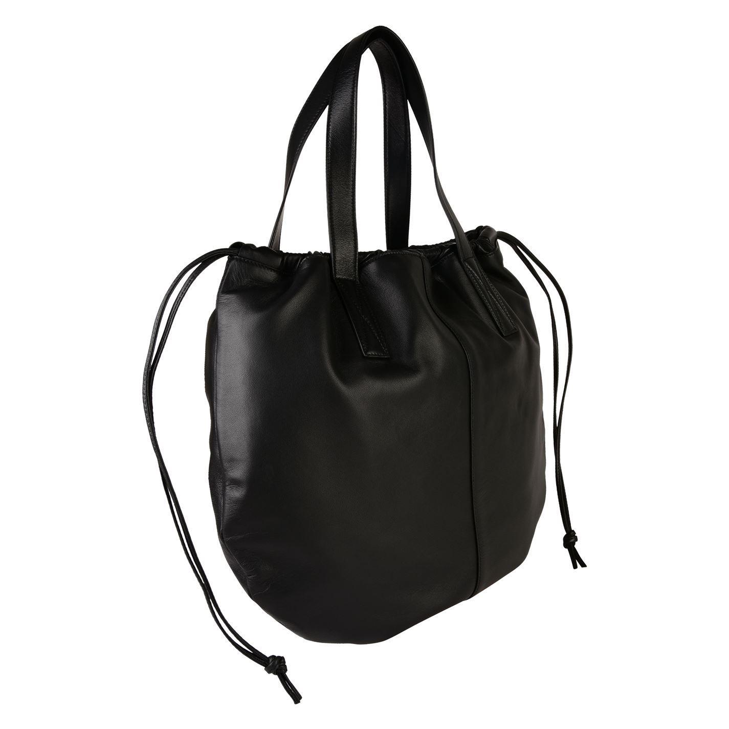 Victoria Beckham Leather Lea Tote Bag in Black