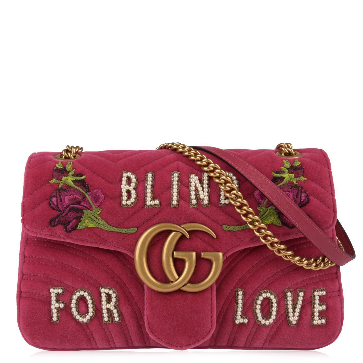 Blind For Love shoulder bag - Red Gucci dmzckoFf