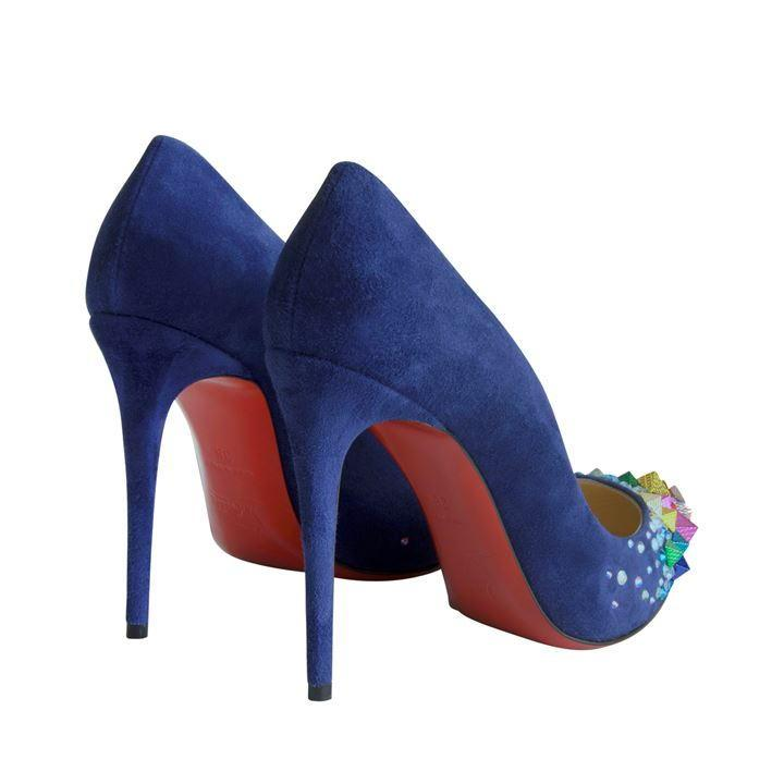 Women S Blue Keopump Velour Heels