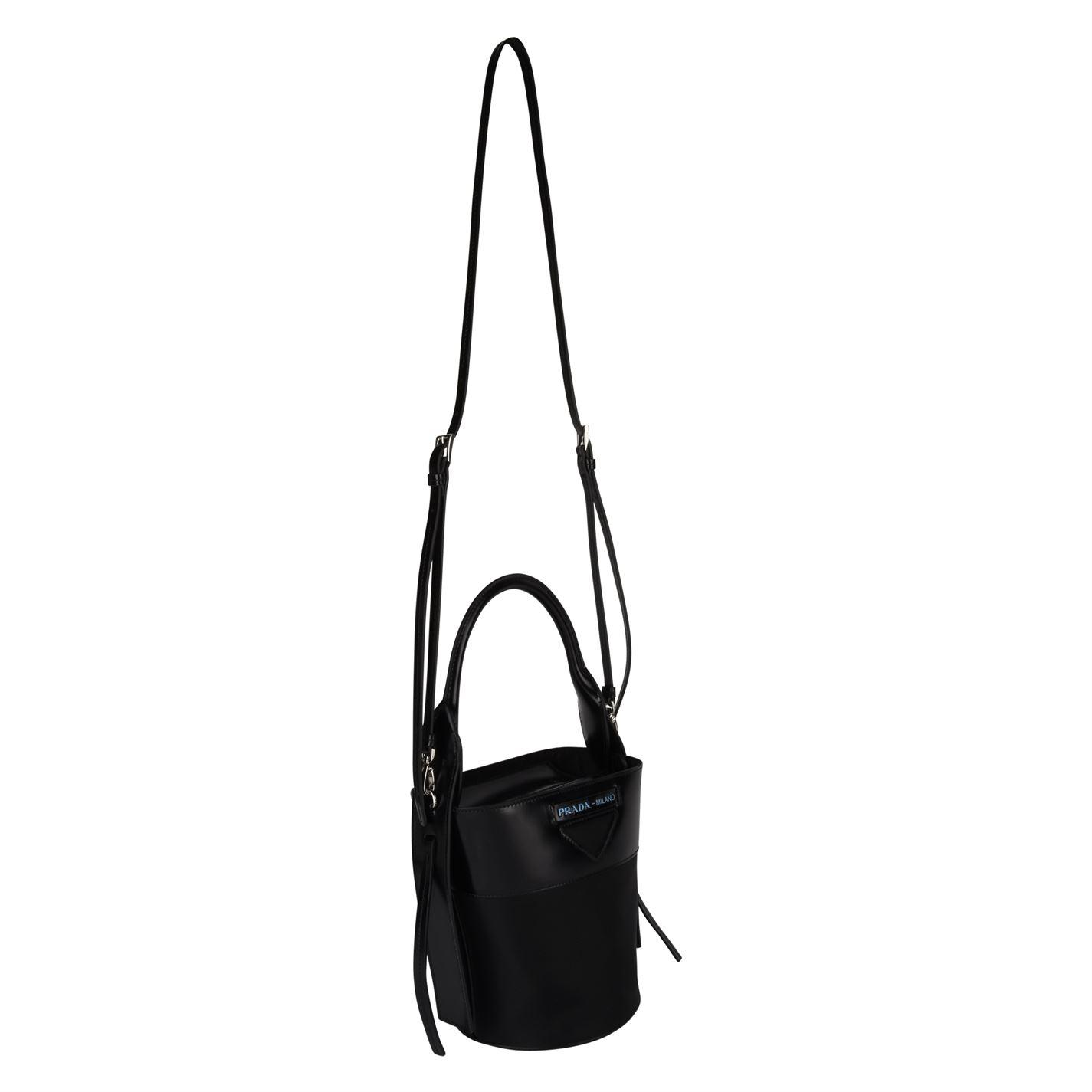 2c9ff22d59a8 Prada - Black Ouverture Nylon Bucket Bag - Lyst. View fullscreen