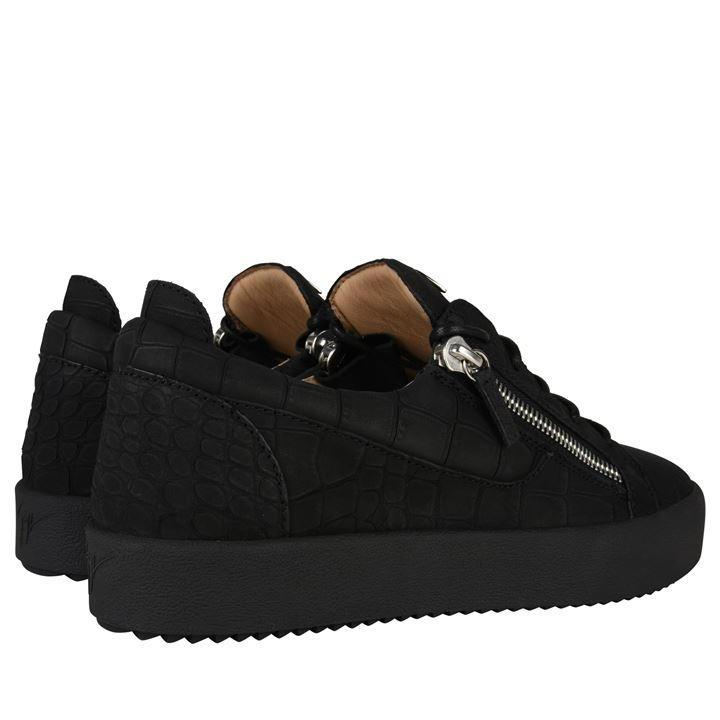 reasonably priced sale usa online the cheapest Giuseppe Zanotti Leather Matte Crocodile Effect May Trainers in ...