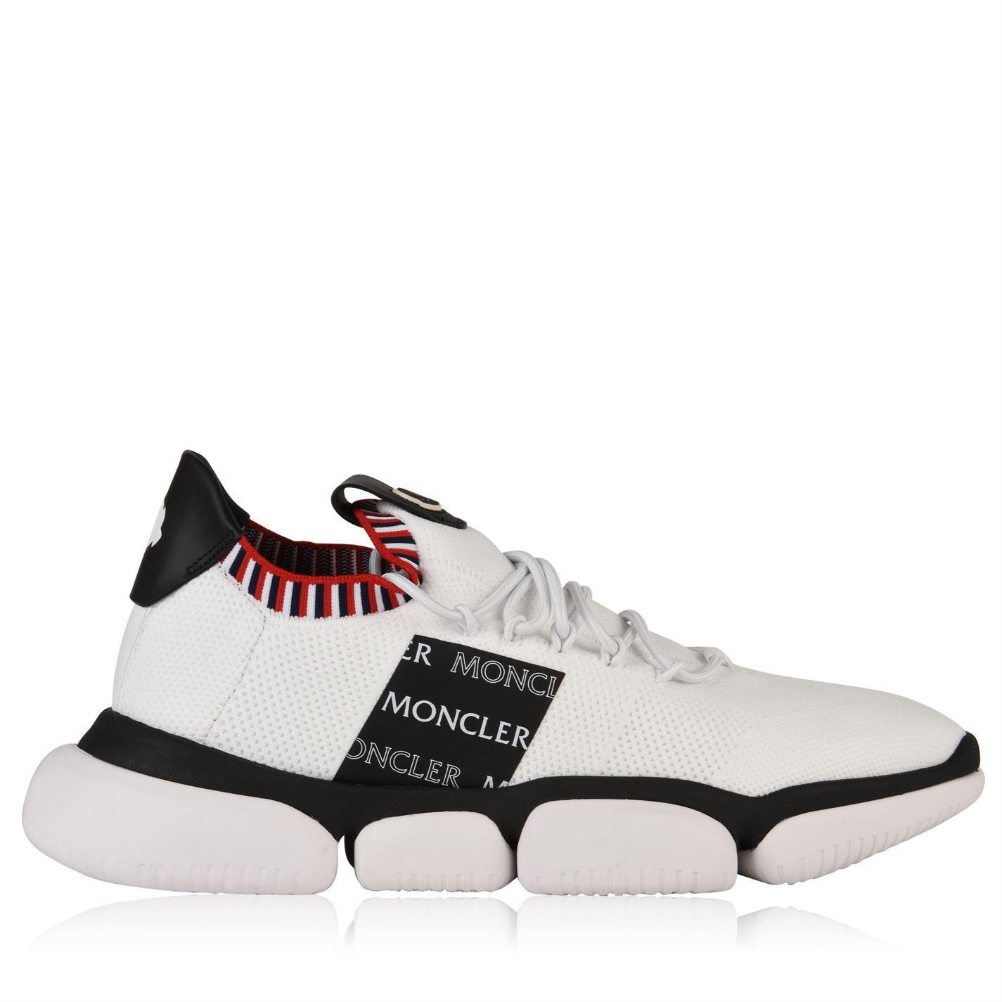962291bda Lyst - Moncler Knitted Runner Trainers in White for Men
