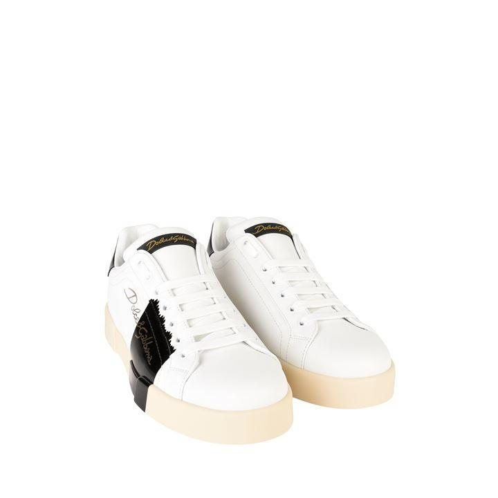 Dolce & Gabbana Leather Signature Logo Trainers for Men