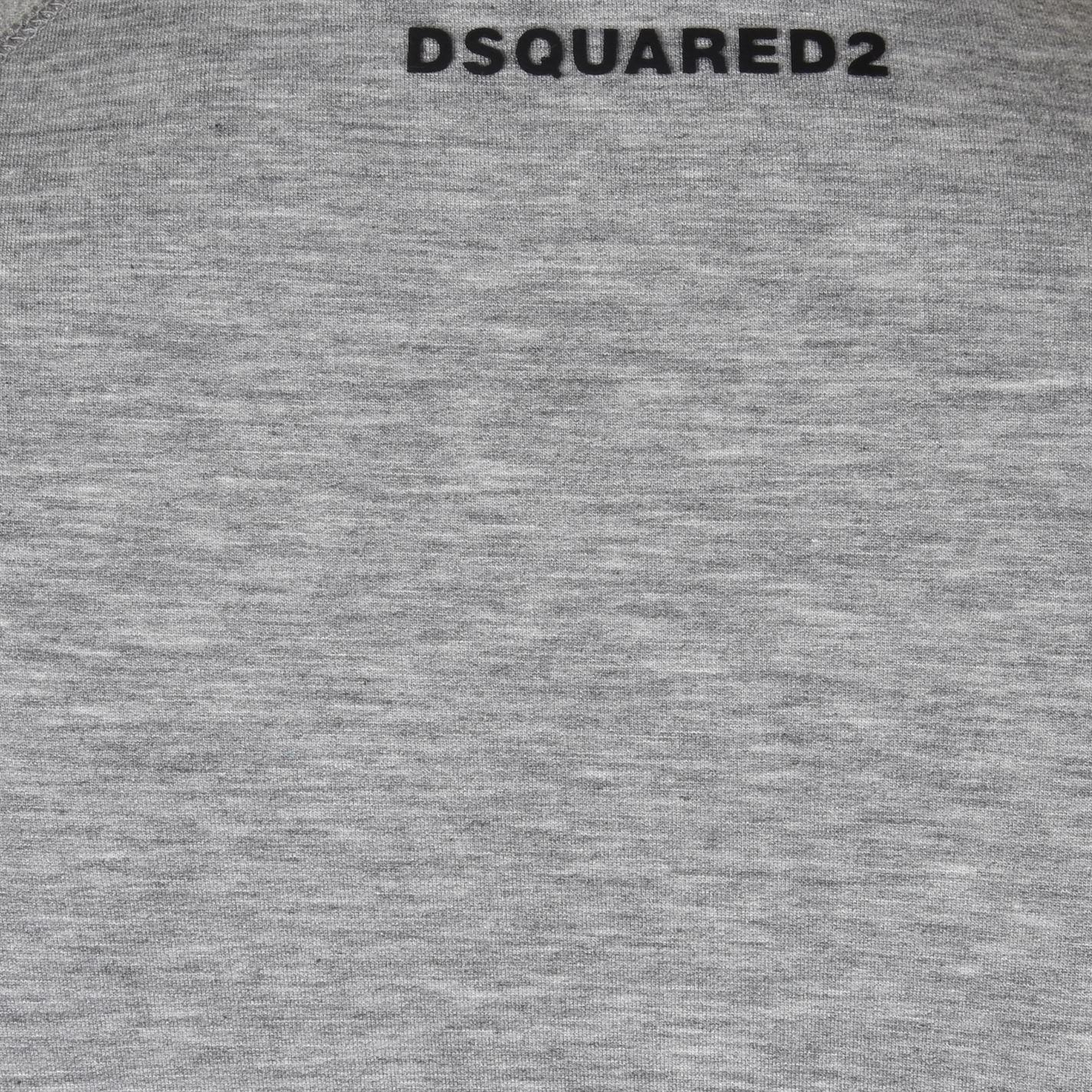 DSquared² Rubber Logo Crew Sweatshirt in Grey Marl (Grey) for Men