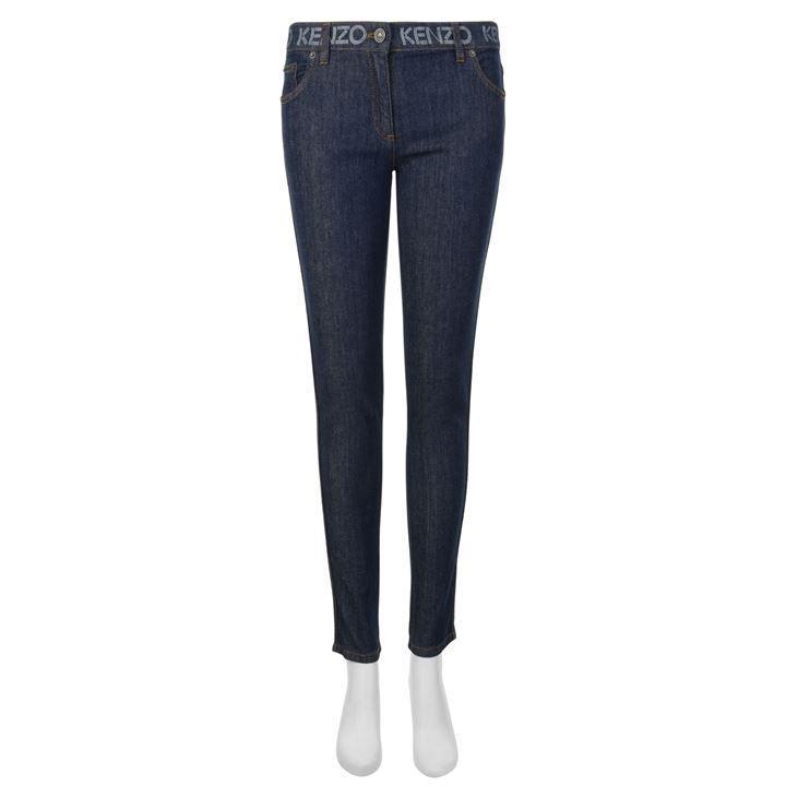 KENZO Denim Logo Skinny Jeans in Blue