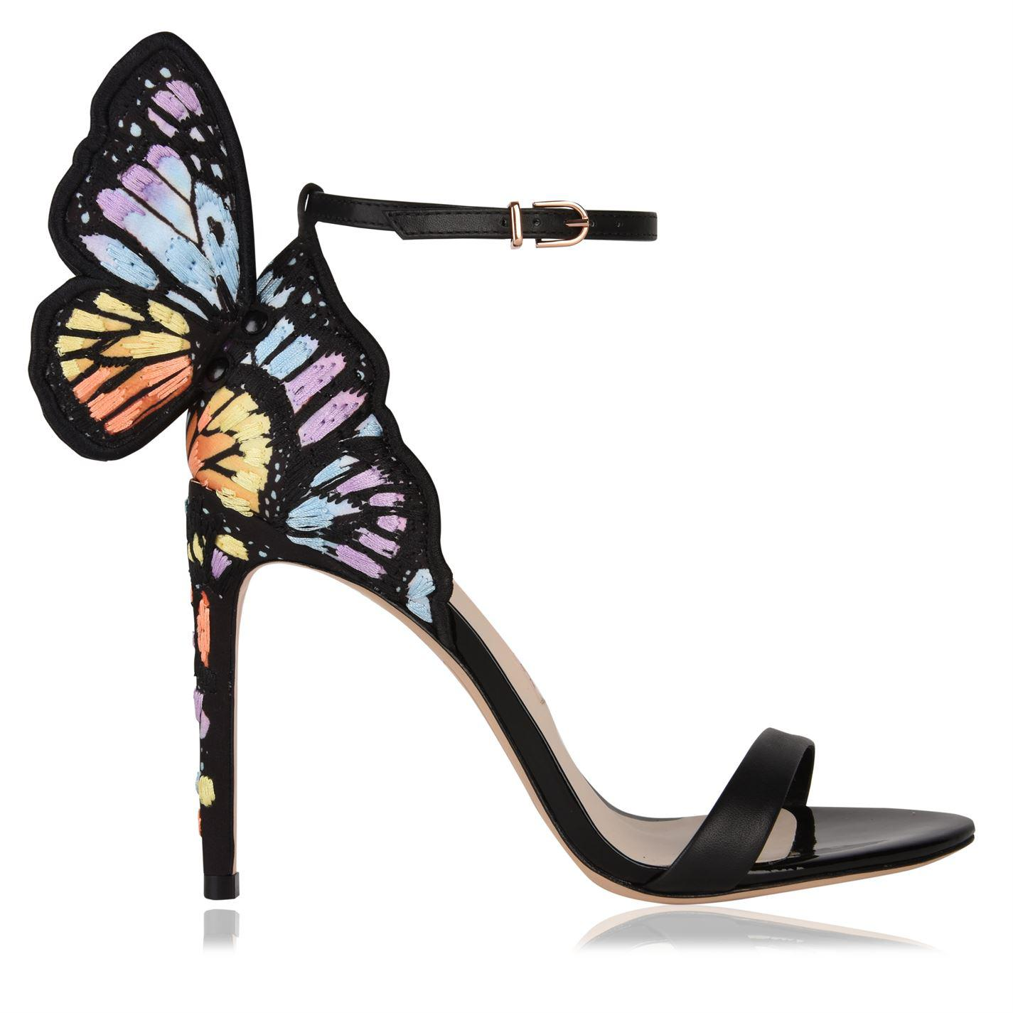 b7ed400e8afba0 Sophia Webster. Women s Black Chiara Embroidered Satin And Leather Sandals