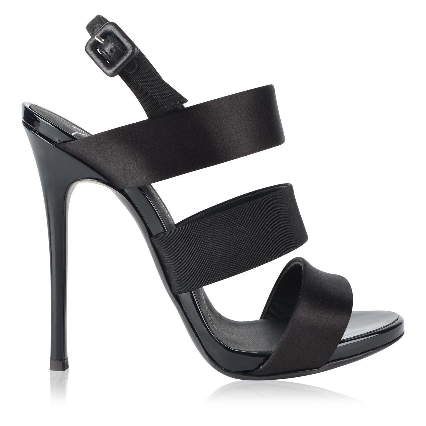 1227eb6498a Giuseppe Zanotti Raso Alien Heels in Black - Lyst