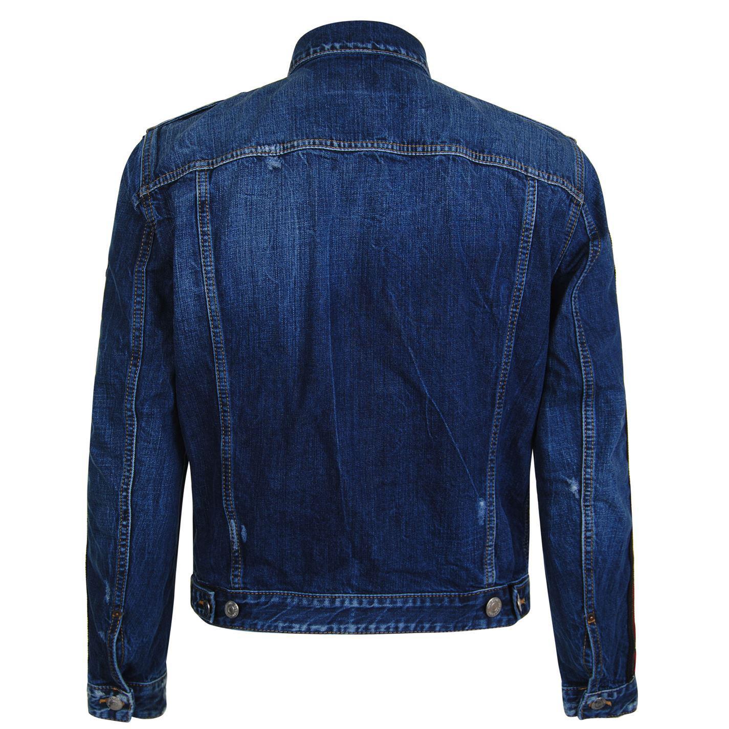 DSquared² Ribbon Denim Jacket in Blue for Men