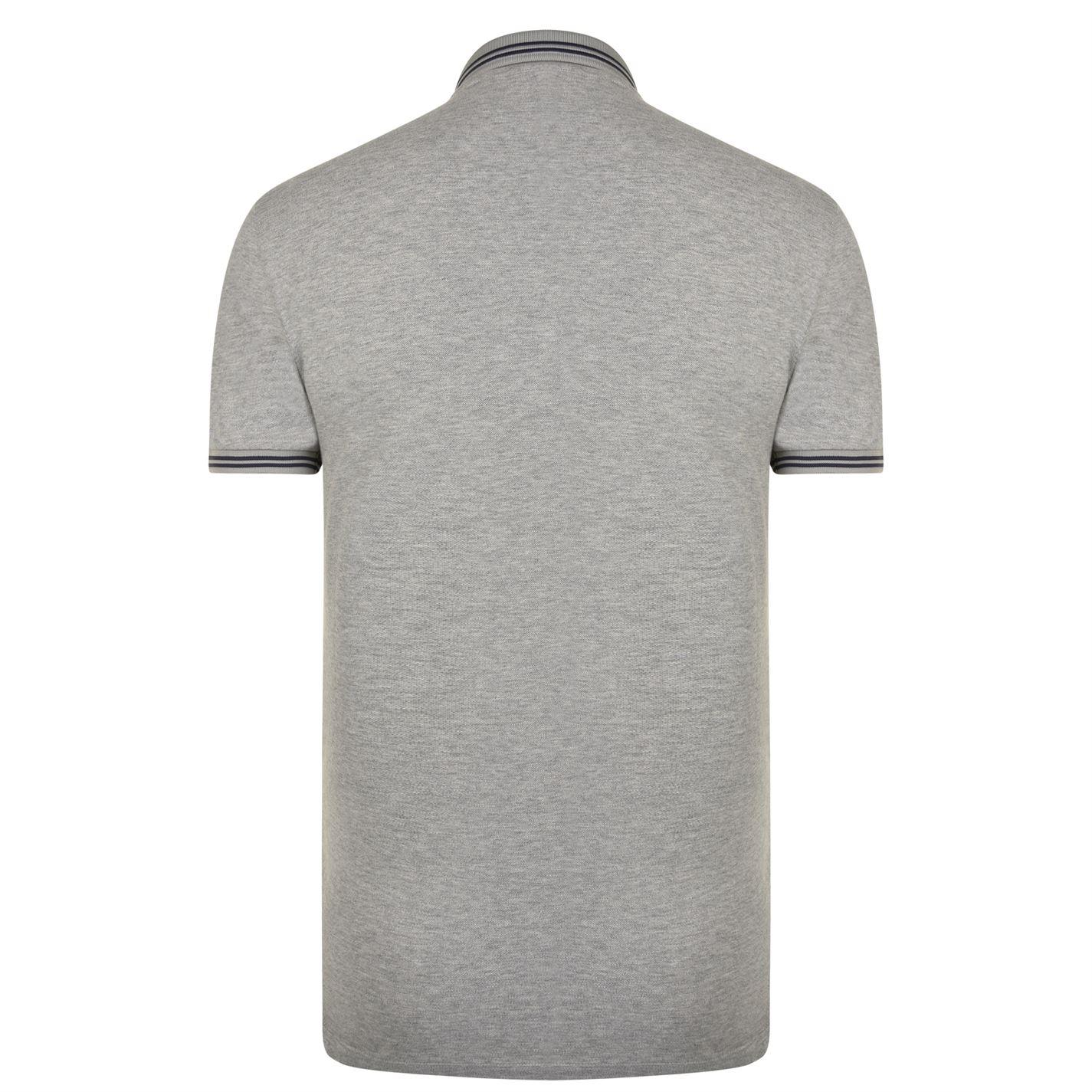 4ae2617e Lyst - Emporio Armani Tipped Polo Shirt in Gray for Men