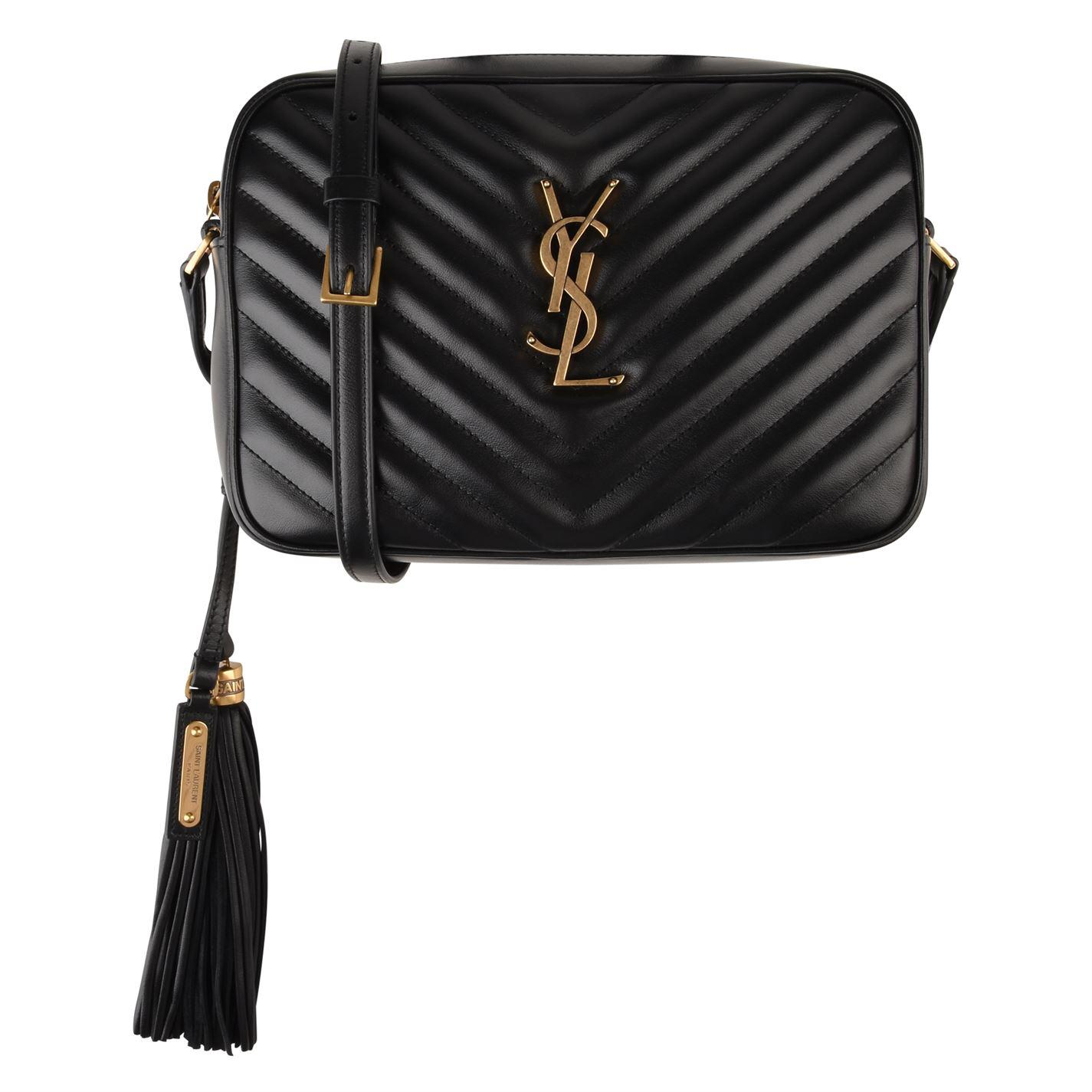 2e9d2ba04f Saint Laurent Black Lou Matelasse Leather Belt Bag