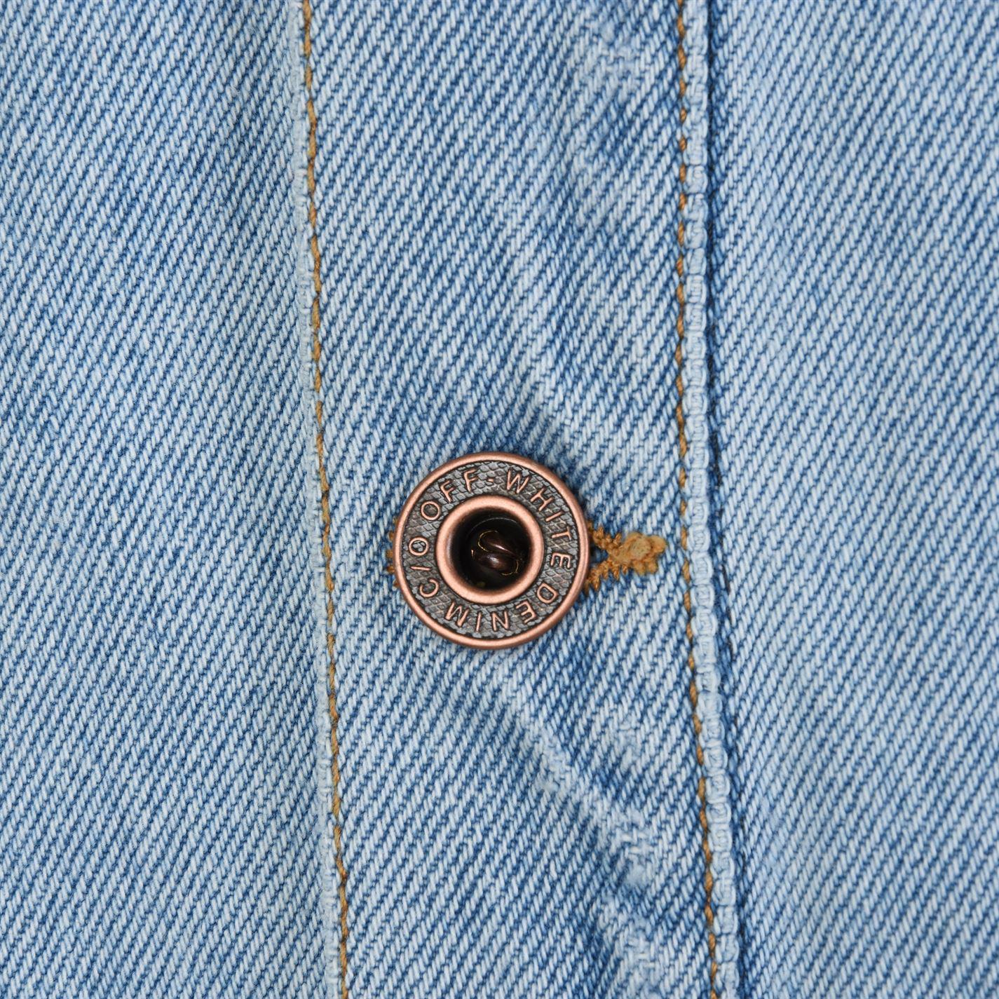 Off-White c/o Virgil Abloh Temperature Denim Shirt in Bleach White (Blue) for Men