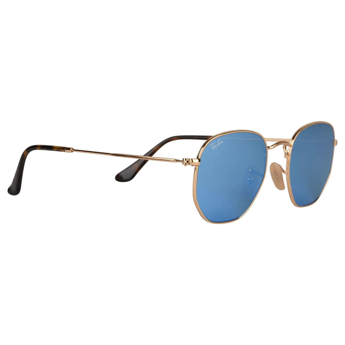 8d3c8d000b1 Ray-Ban - Blue Hexagonal Flat Lens Sunglasses for Men - Lyst. View  fullscreen