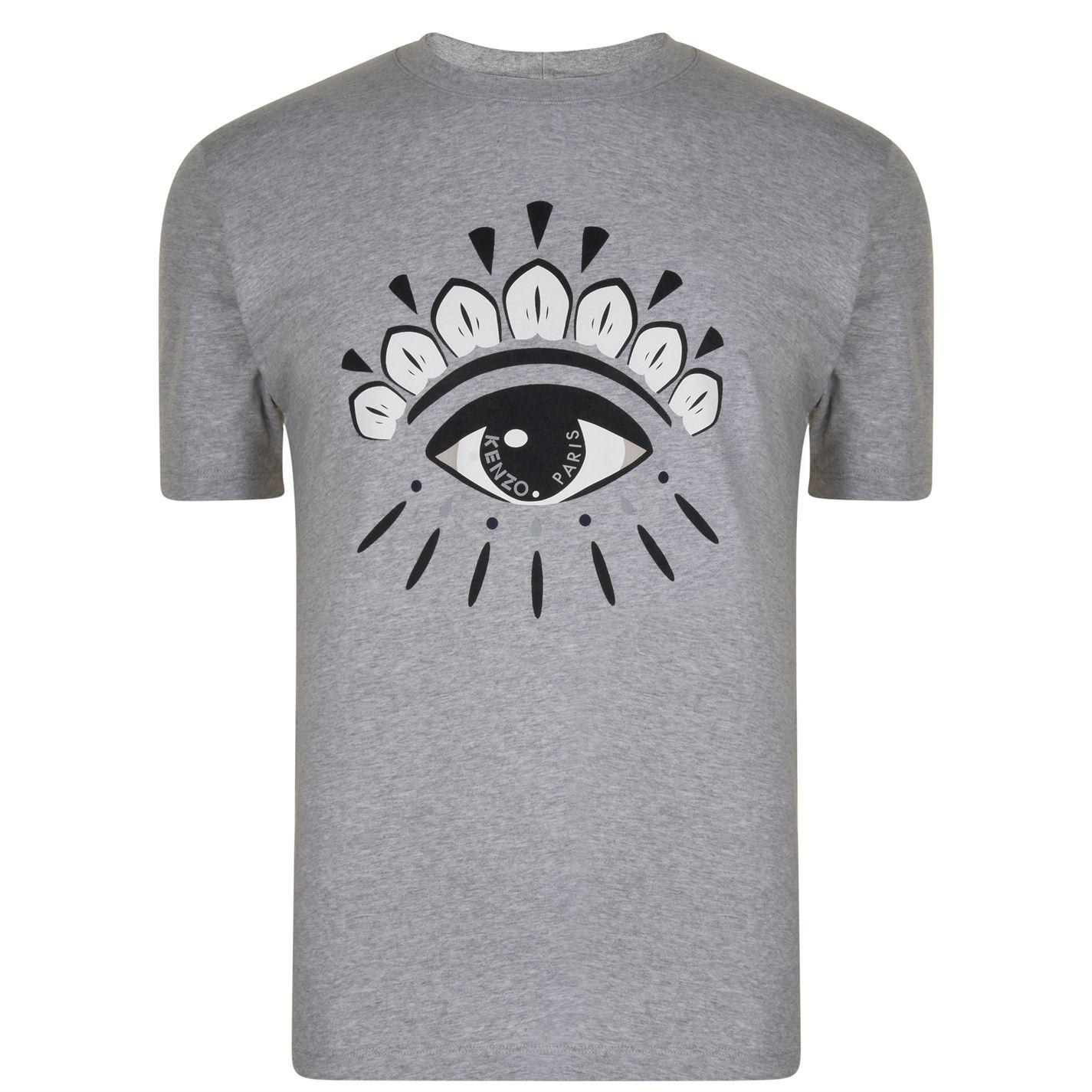 88aa029ab1a KENZO Eye Icon T Shirt in Gray for Men - Lyst