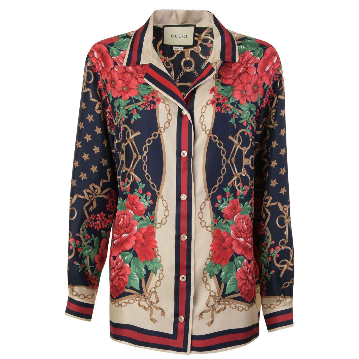 929042bb Gucci - Multicolor Rose Pj Shirt - Lyst. View fullscreen