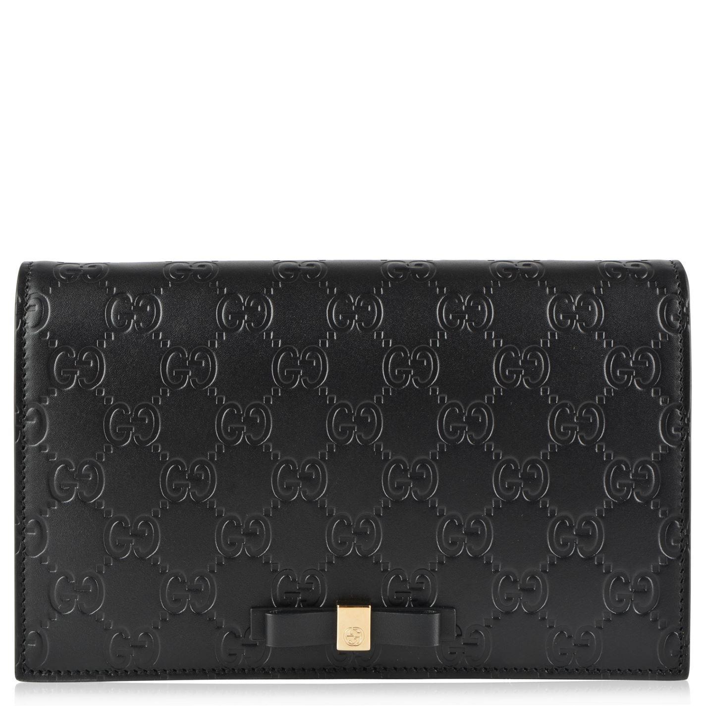 07003ba186a Gucci Gg Bow Shoulder Bag in Black - Lyst