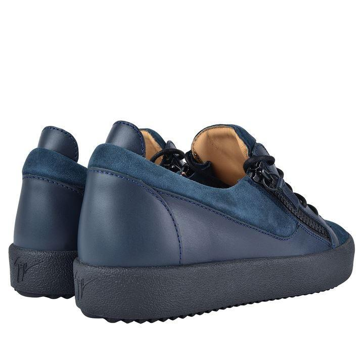 Giuseppe Zanotti London Suede Trainers in Navy/Black (Blue) for Men