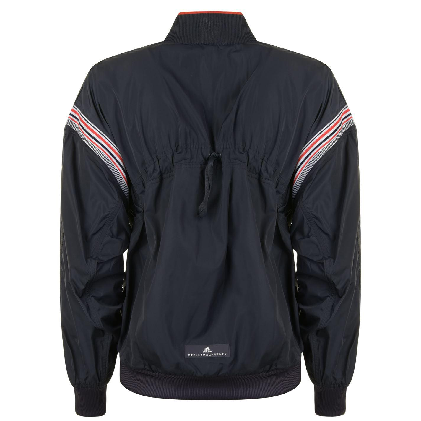 adidas By Stella McCartney Synthetic Training Striped Bomber Jacket in Navy (Blue) for Men