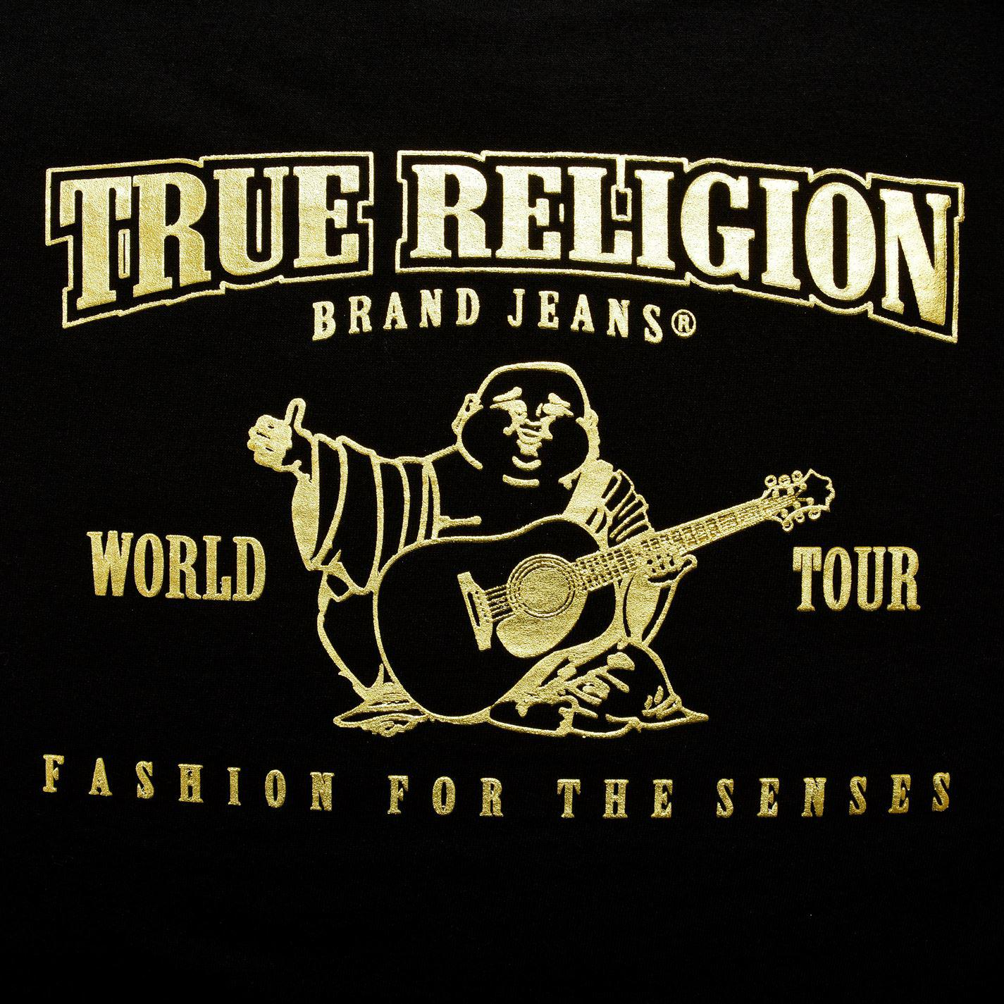 True Religion Cotton Buddha Crew Neck Sweatshirt in Black/Gold (Black) for Men
