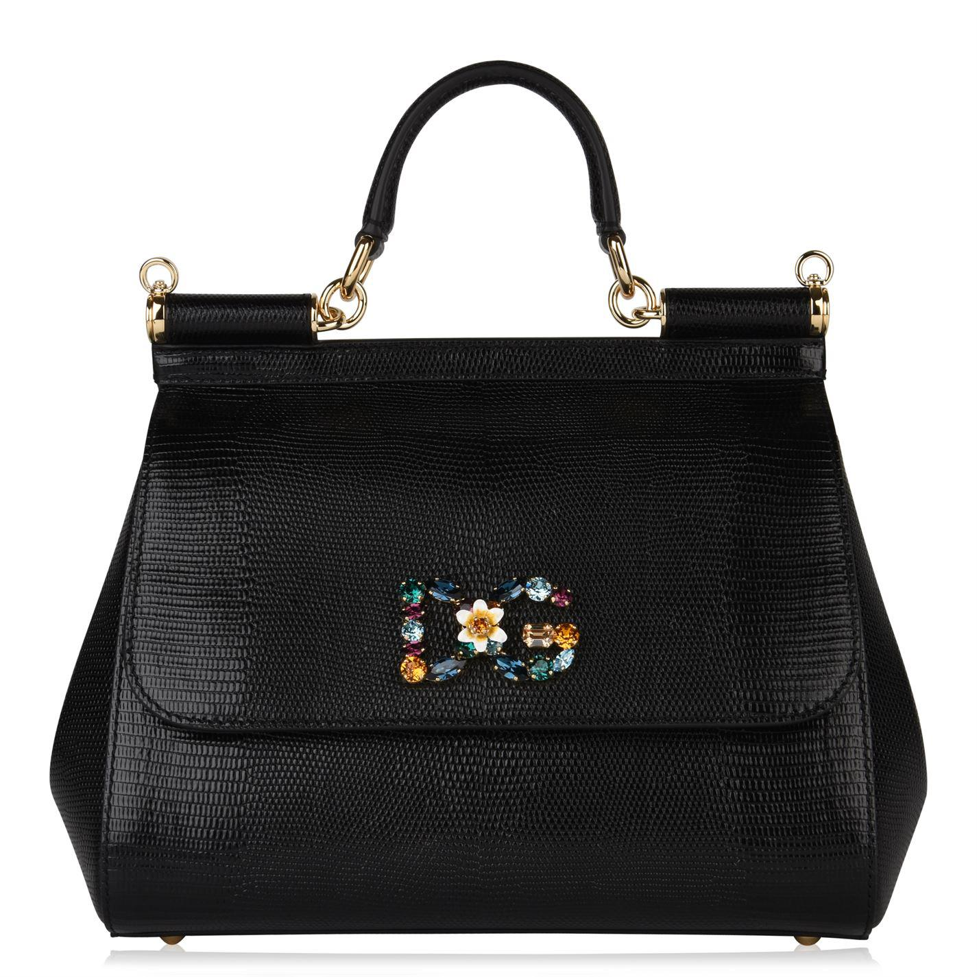 Lyst - Dolce   Gabbana Sicily Medium Bag in Black 7e330d1980c