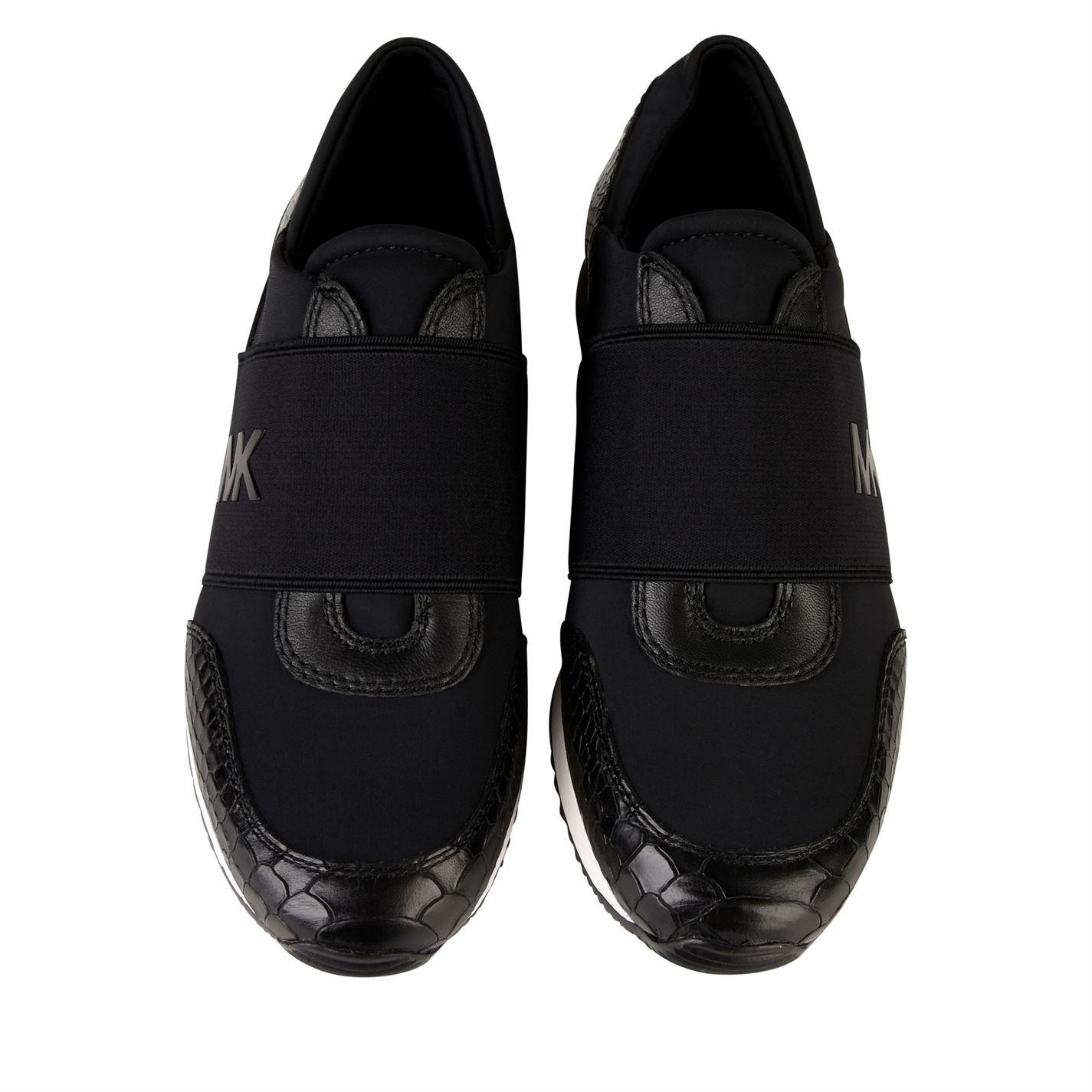 michael kors black glitter trainers
