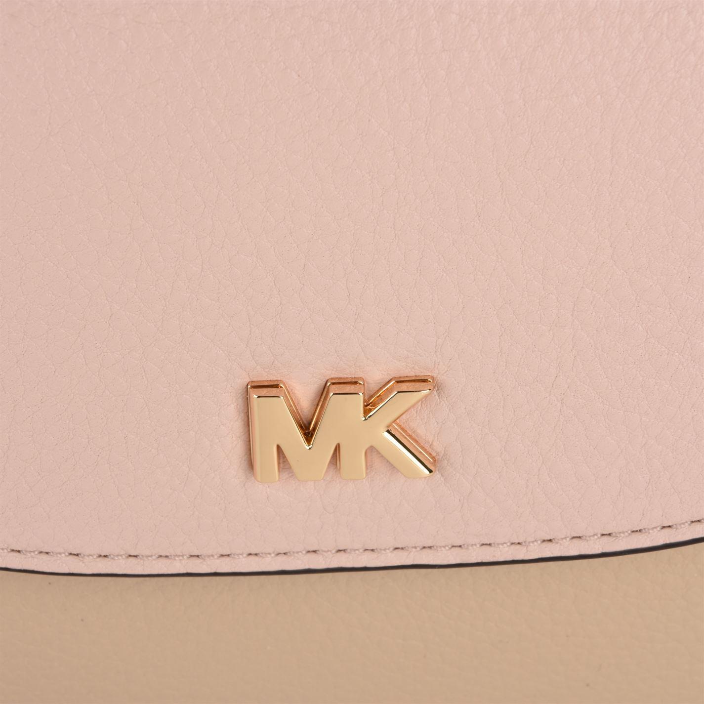 MICHAEL Michael Kors Leather Half Dome Cross Body Bag in Natural