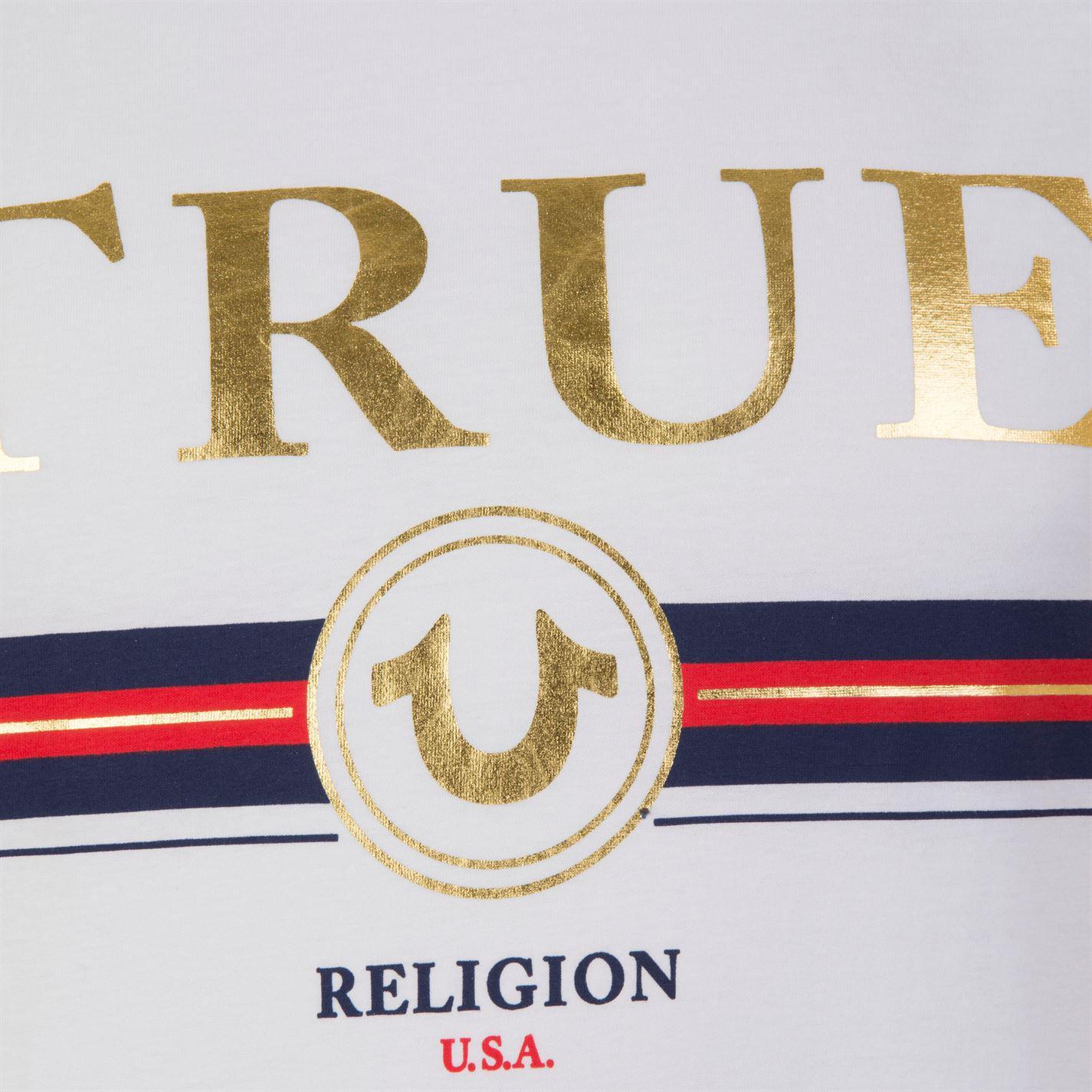 Lyst True Religion Band Logo T Shirt In White For Men