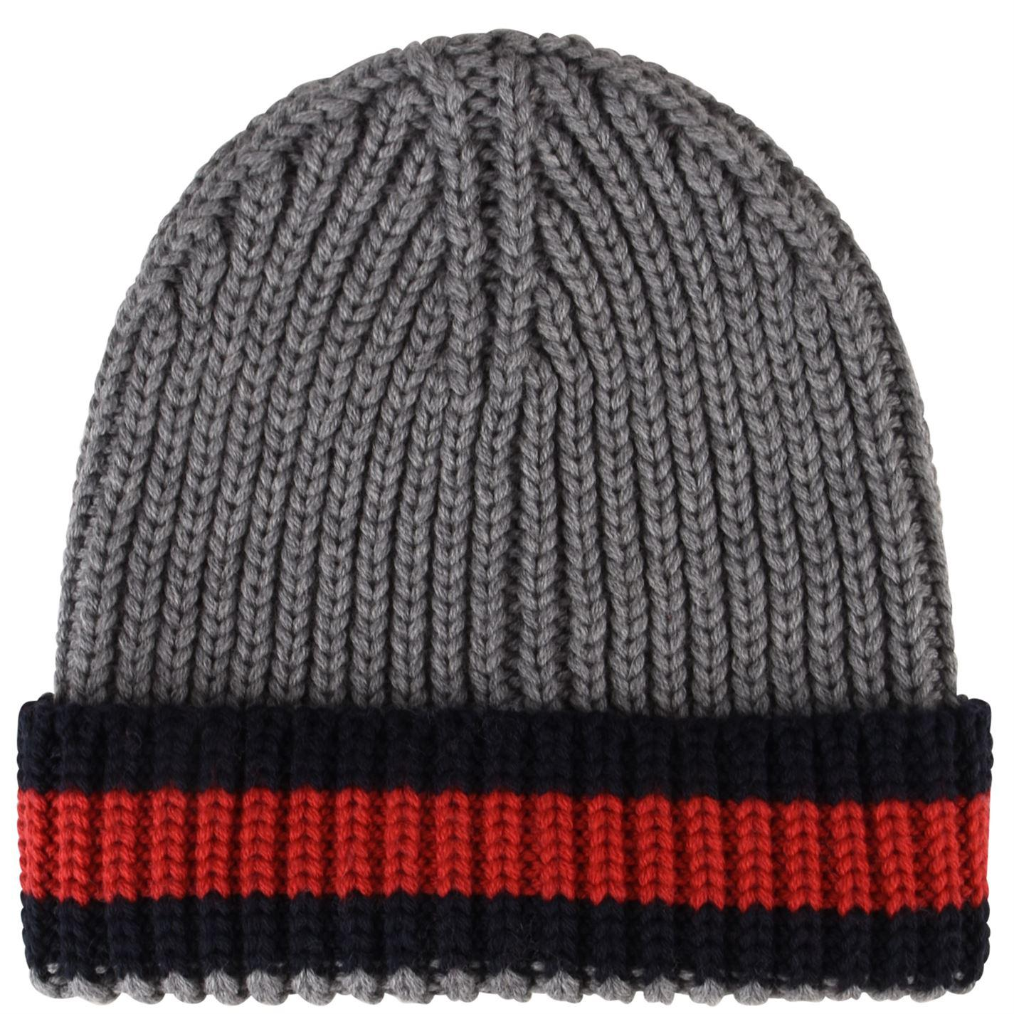 6d71398dd2d Lyst - Gucci Web Trim Beanie Hat in Gray for Men
