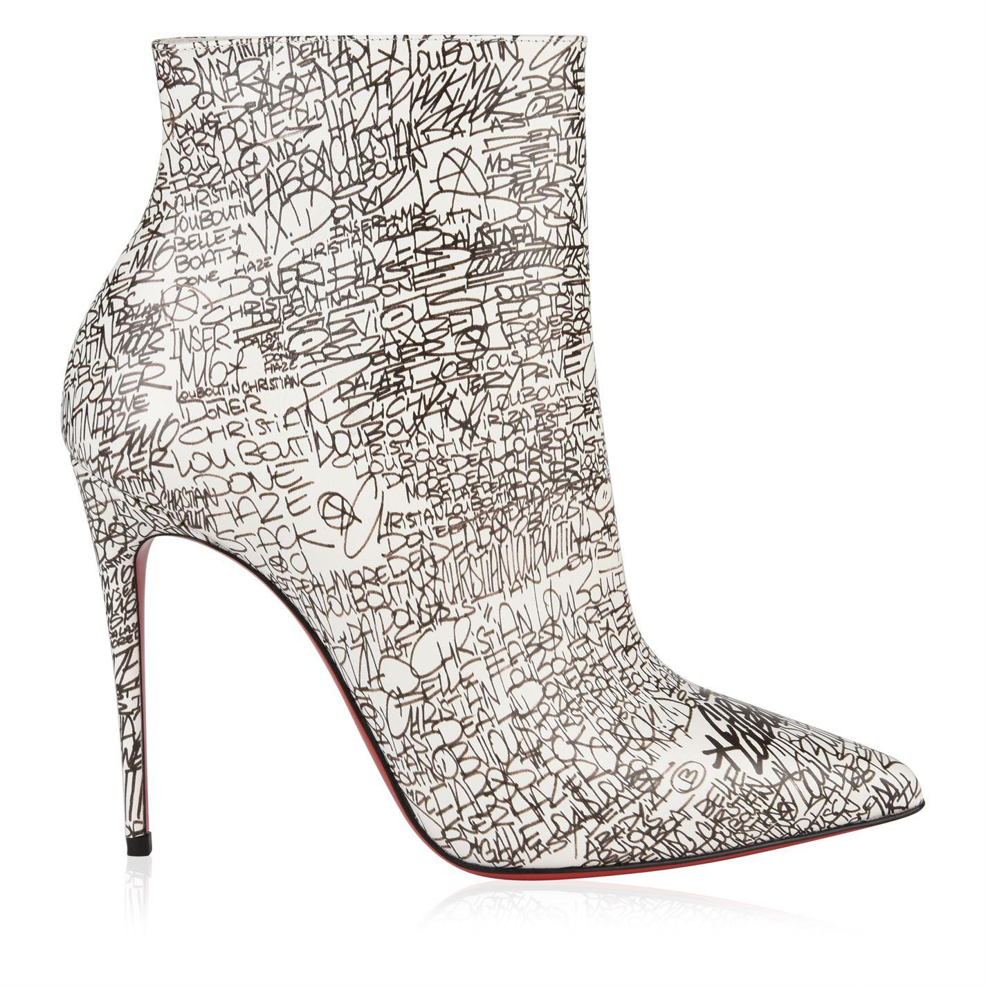 8c5d7d31d7b Christian Louboutin. Women s White So Kate Patent Leather Nicrograf Boots