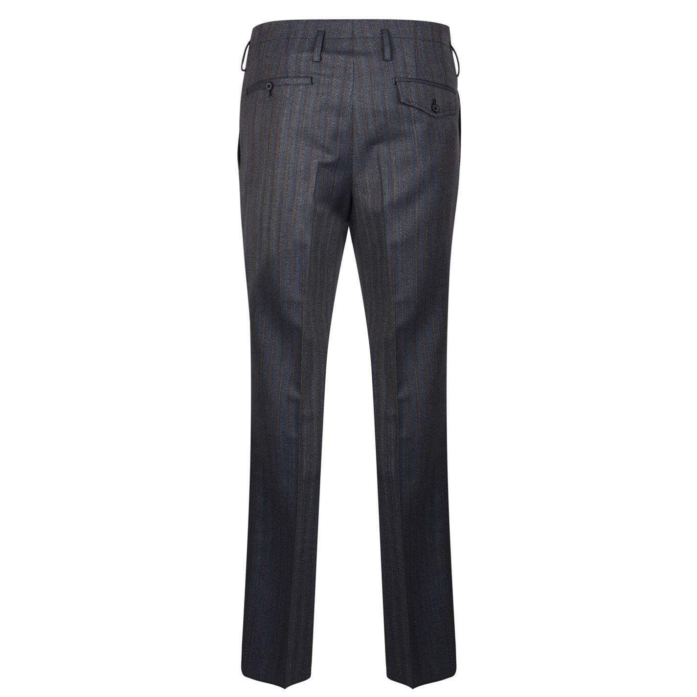 Lanvin Flannel Pinstripe Trousers in Blue 20 (Blue) for Men