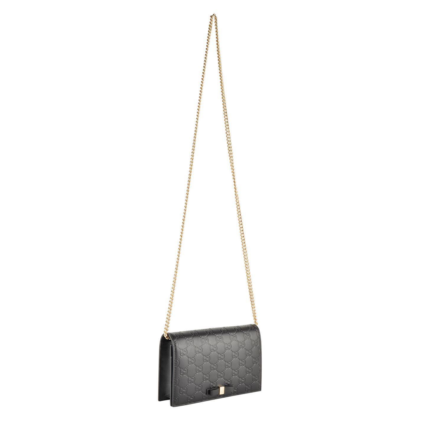 112679ef553 Gucci - Black Gg Bow Shoulder Bag - Lyst. View fullscreen