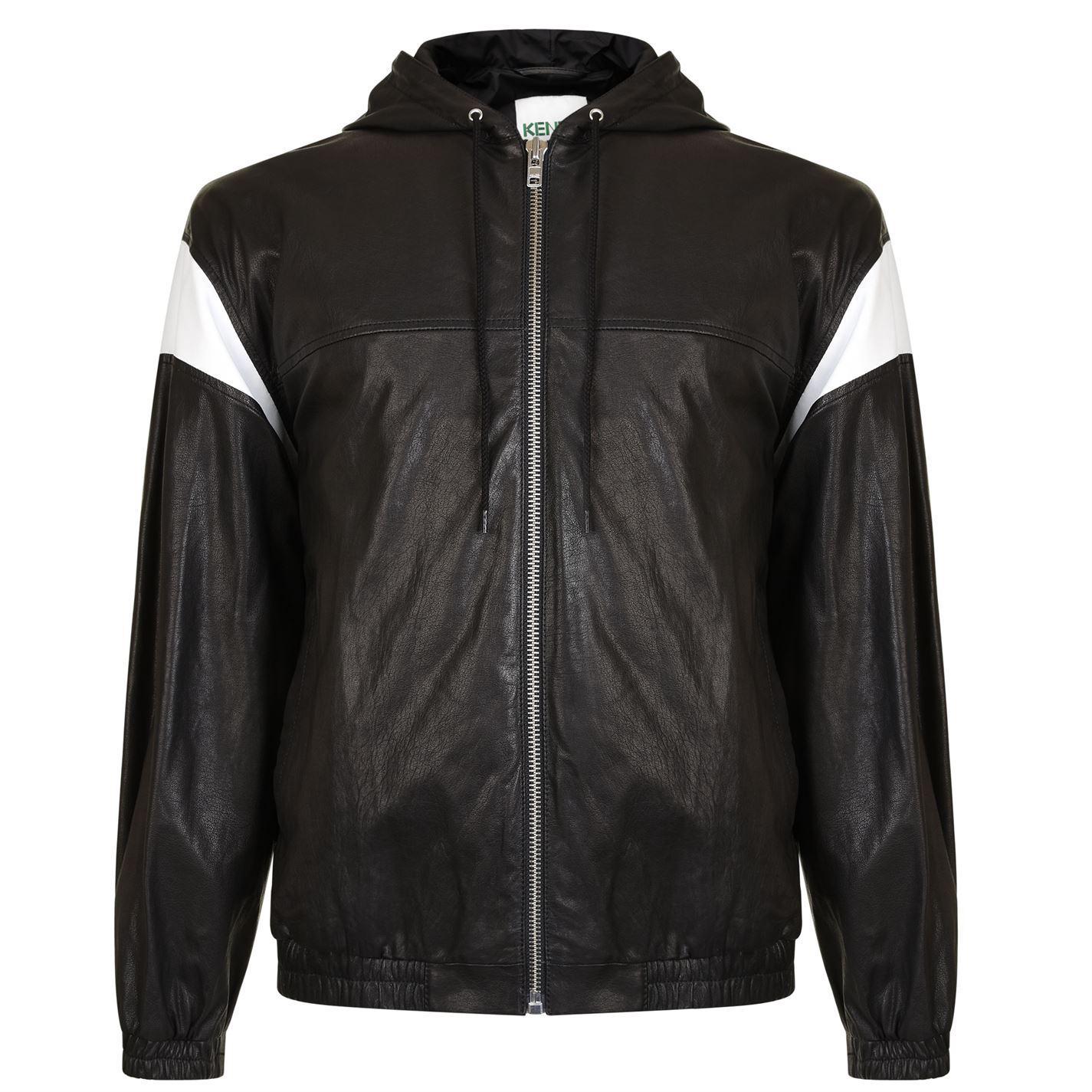 cc49dc35 KENZO 'hyper ' Leather Jacket in Black for Men - Lyst