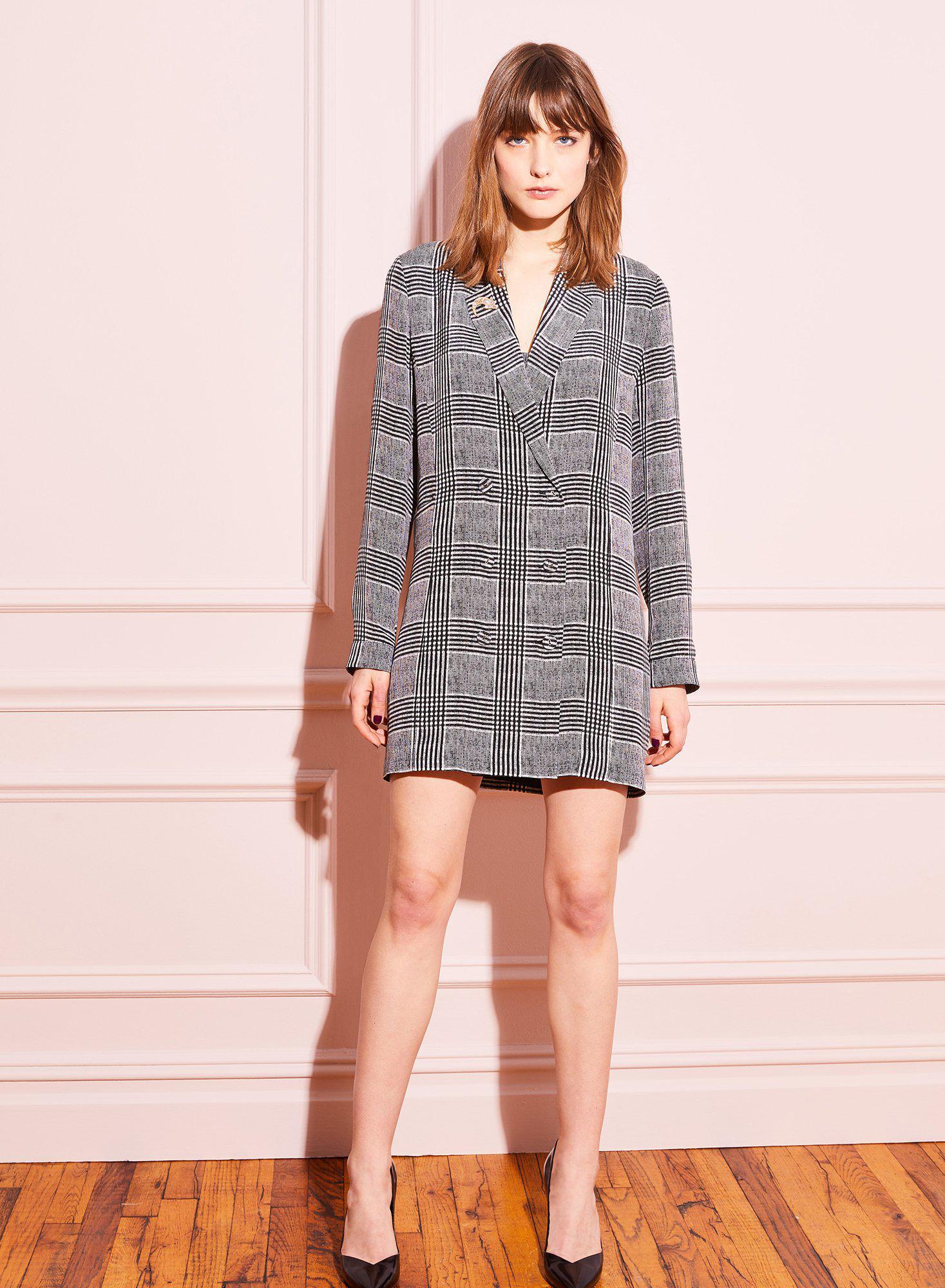 a117fe6b1e37fc Fleur du Mal - Gray Double Breasted Short Dress - Lyst. View fullscreen
