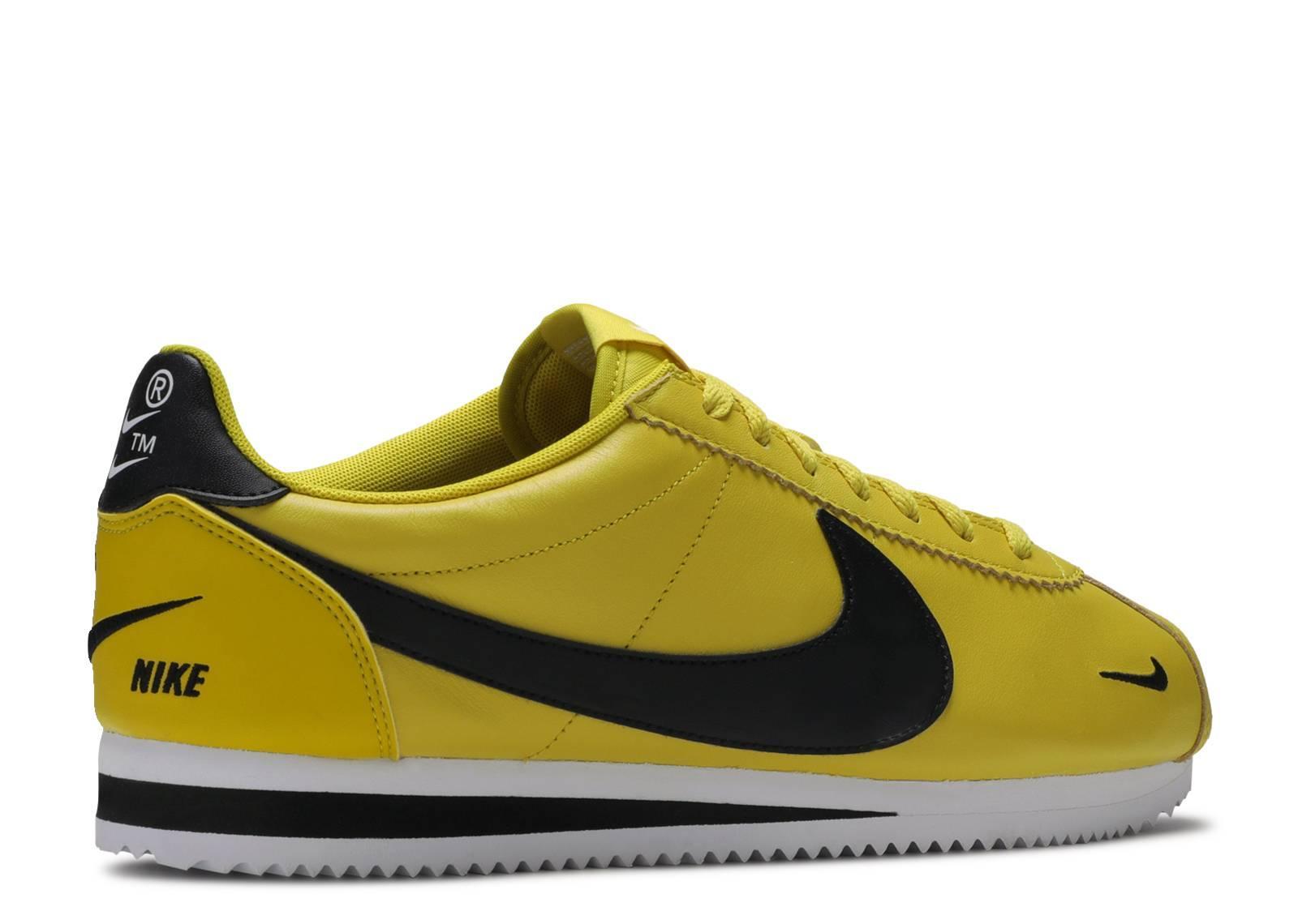 nike cortez premium yellow