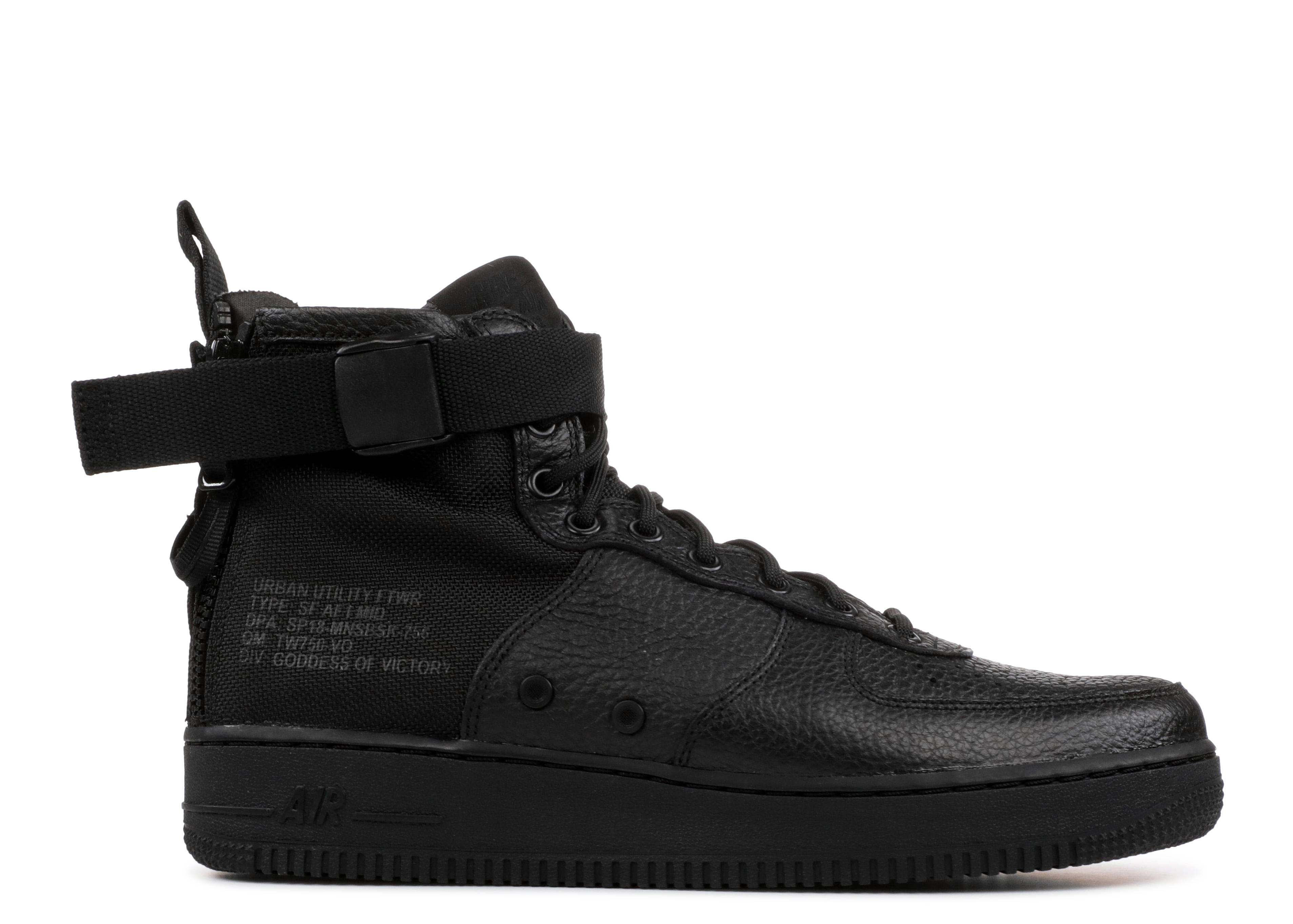 Nike Synthetic Sf Air Force 1 Mid Black