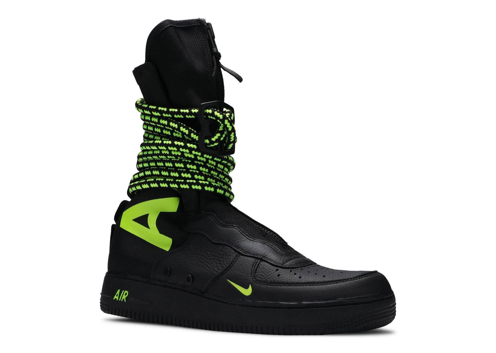 Nike Sf Air Force 1 High Black Volt for