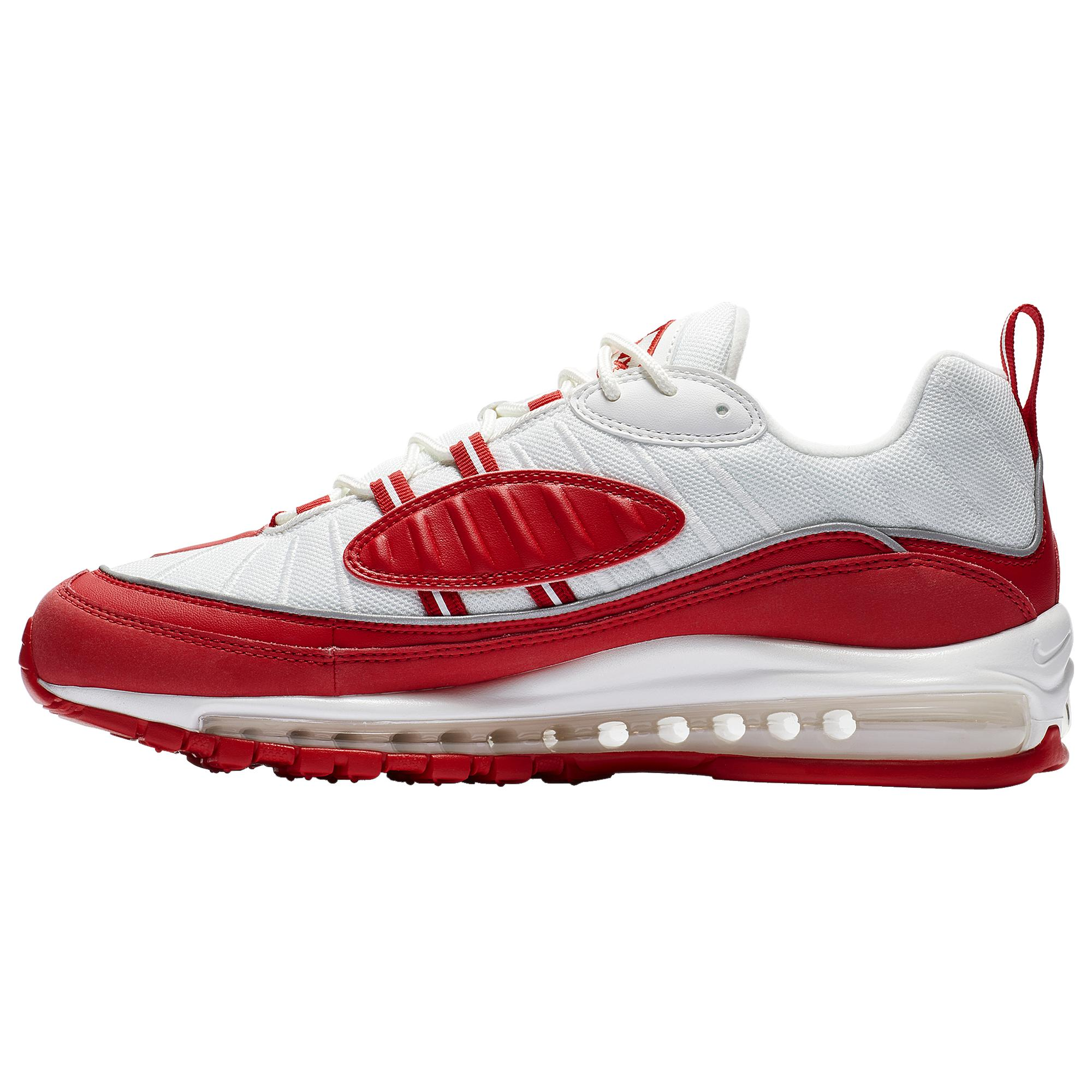 Nike Leather Air Max 98 Low-top sneakers in Red for Men - Save 91 ...