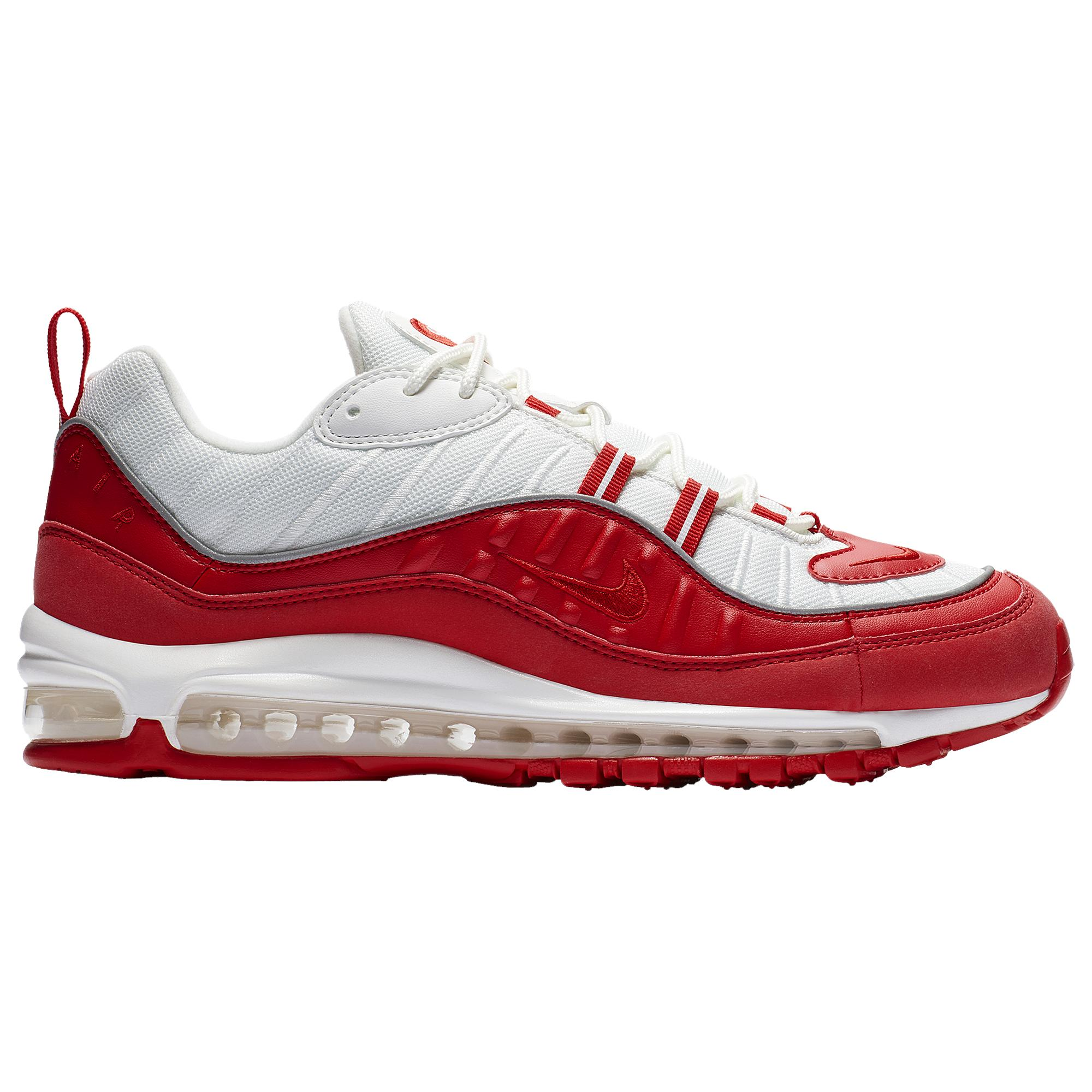 Nike Leather Air Max 98 Low-top sneakers in University Red (Red ...