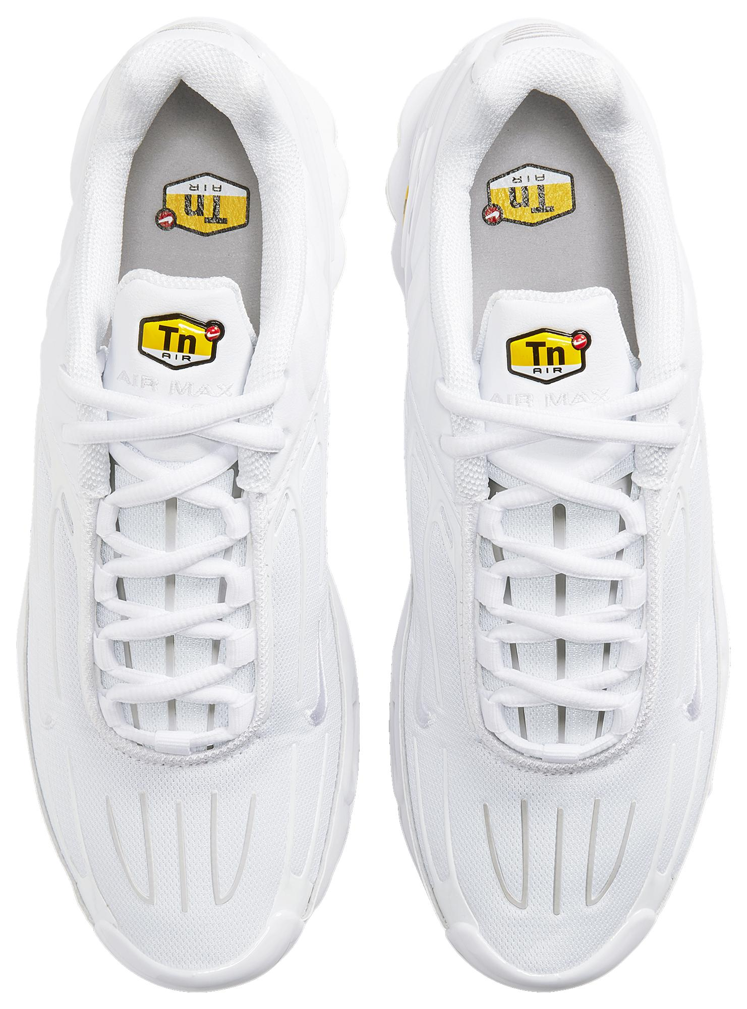 Nike Leather Air Max Plus Iii - Shoes in White/White/Grey (White ...
