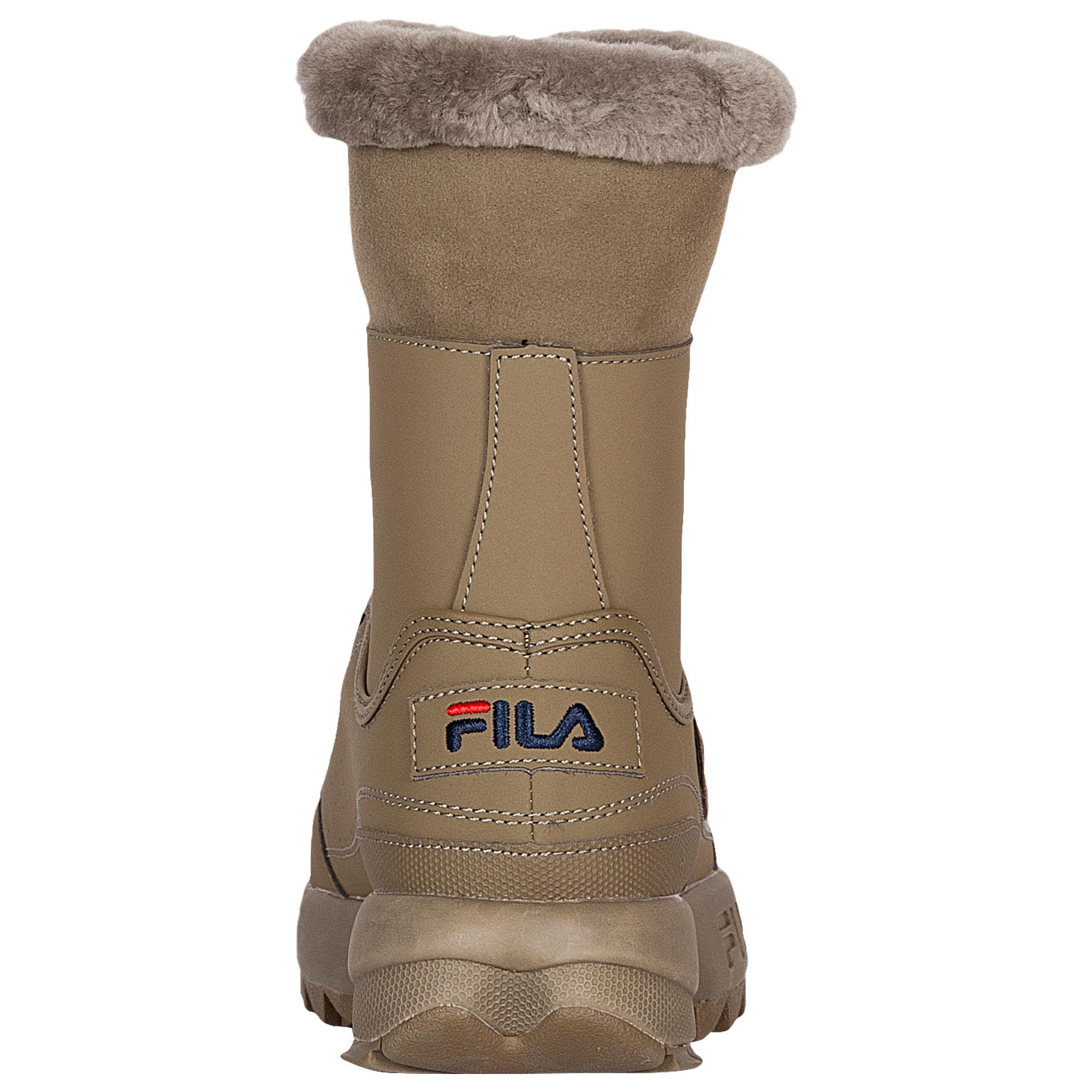 Fila Suede Disruptor Shearling Boots