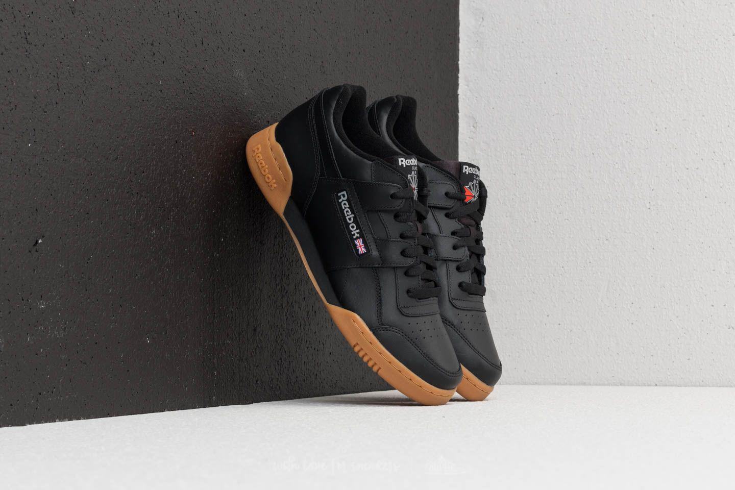 Reebok Classic WORKOUT PLUS - Trainers - black/carbon/red/royal p8WLDx6F