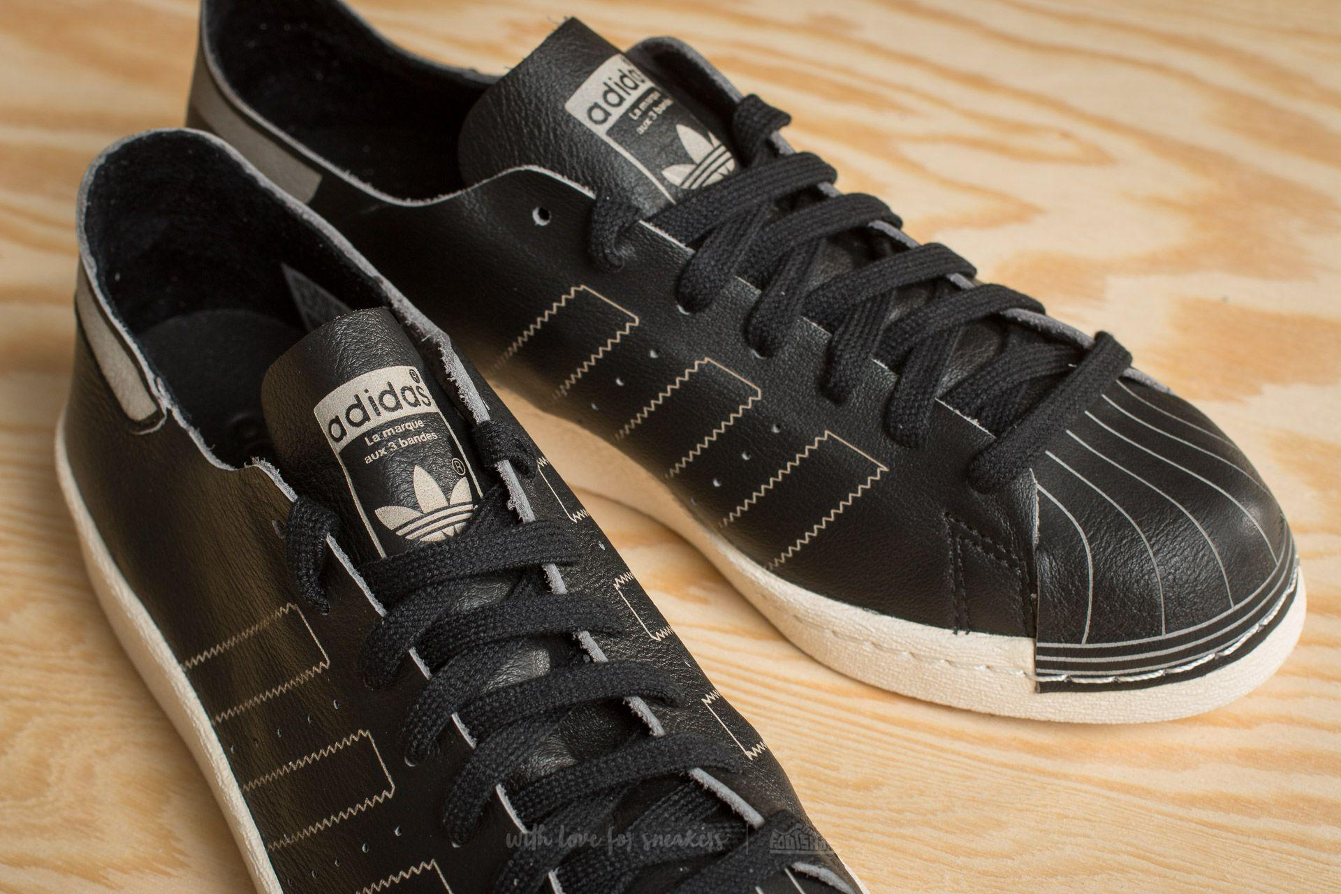 the best attitude 5b84f e0b82 Men's Adidas Superstar 80s Decon Core Black/ Core Black/ Vintage White