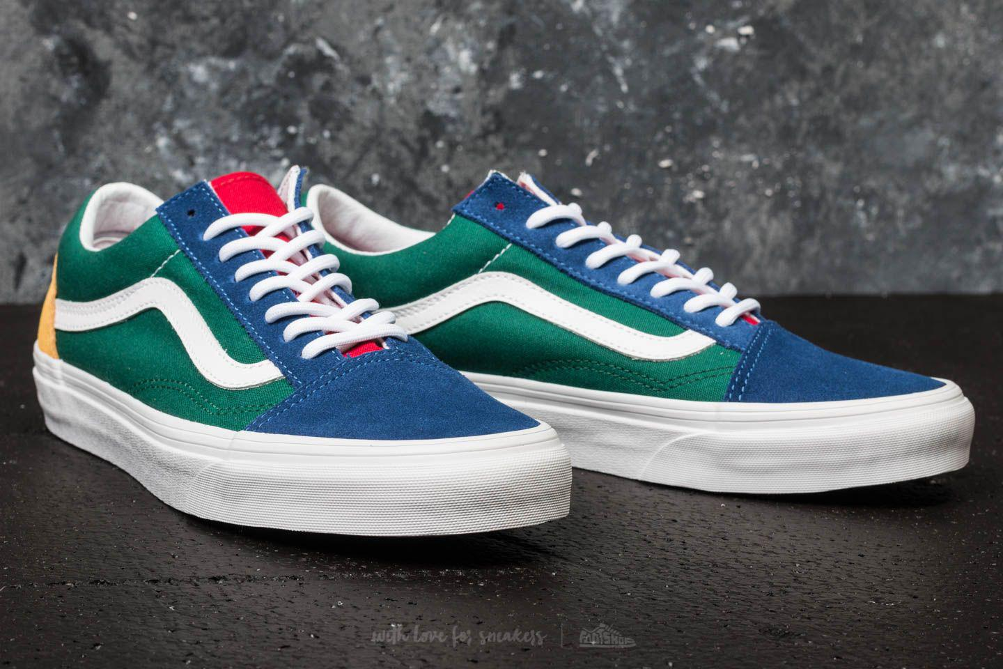 Vans Old Skool ( Yacht Club) Blue/ Green/ Yellow